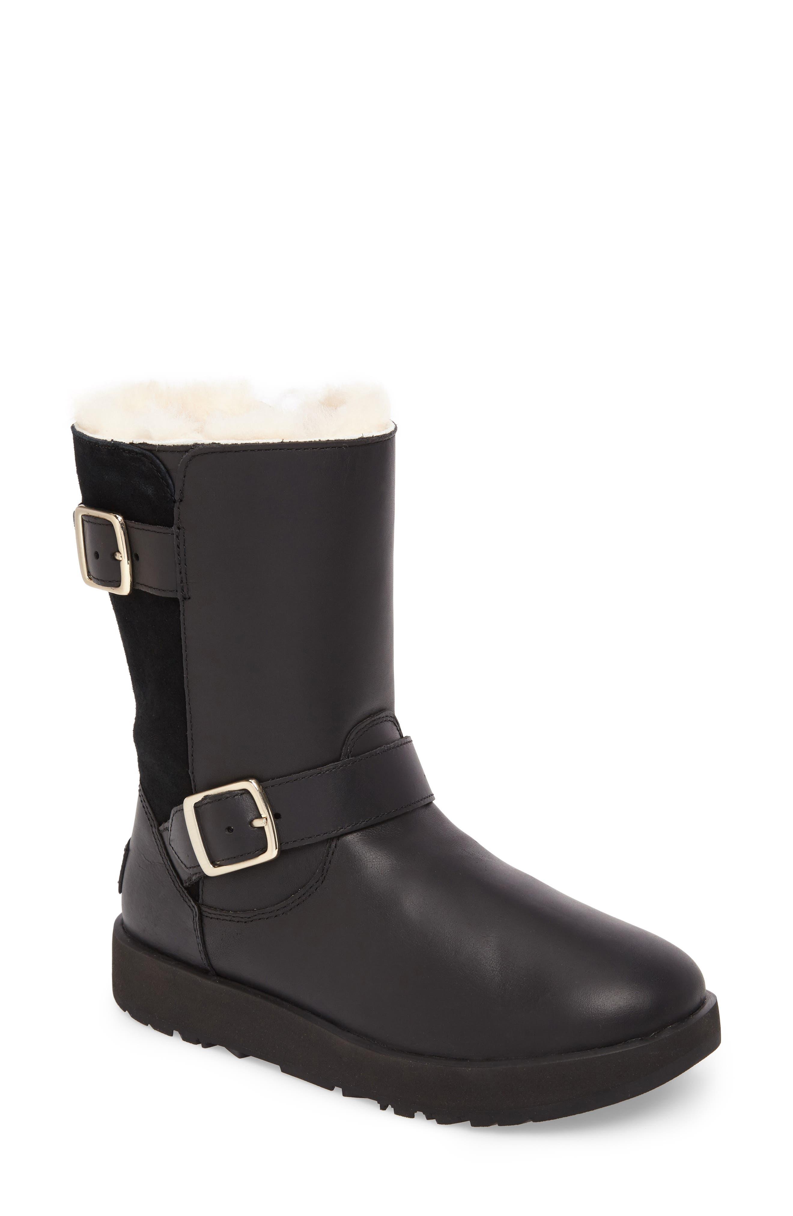 Breida Waterproof Boot,                         Main,                         color, Black Leather