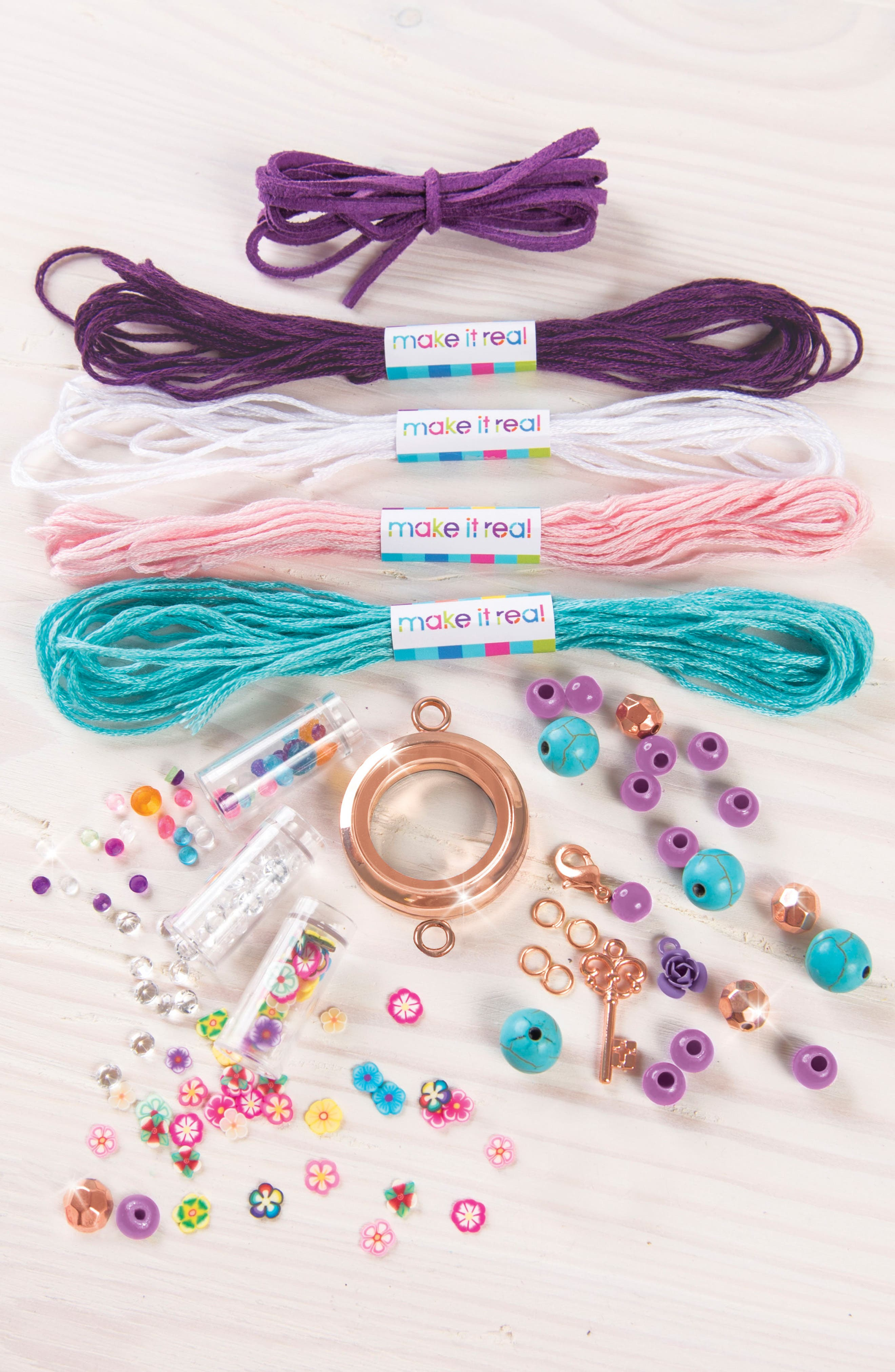 Floating Charm Locket Jewelry Kit,                             Alternate thumbnail 2, color,                             Multi