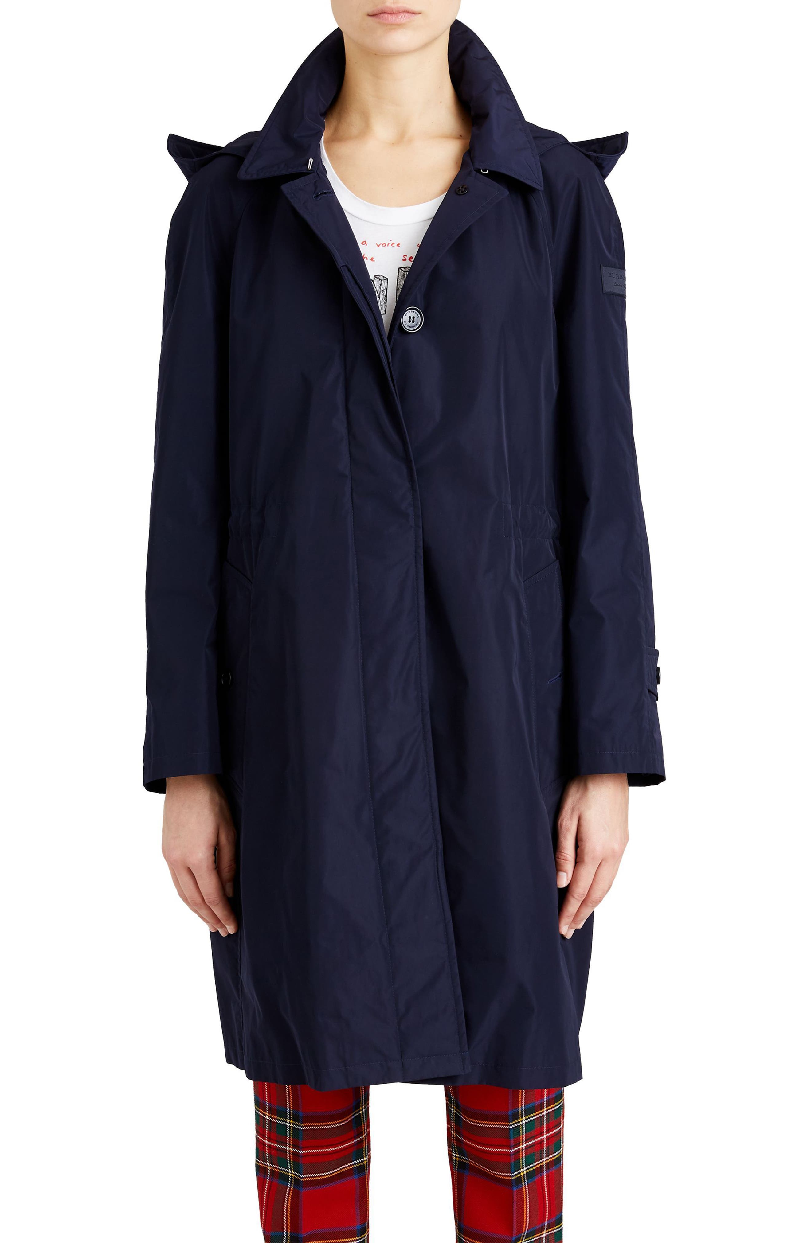 Tringford Waterproof Hooded Coat,                             Main thumbnail 1, color,                             Navy