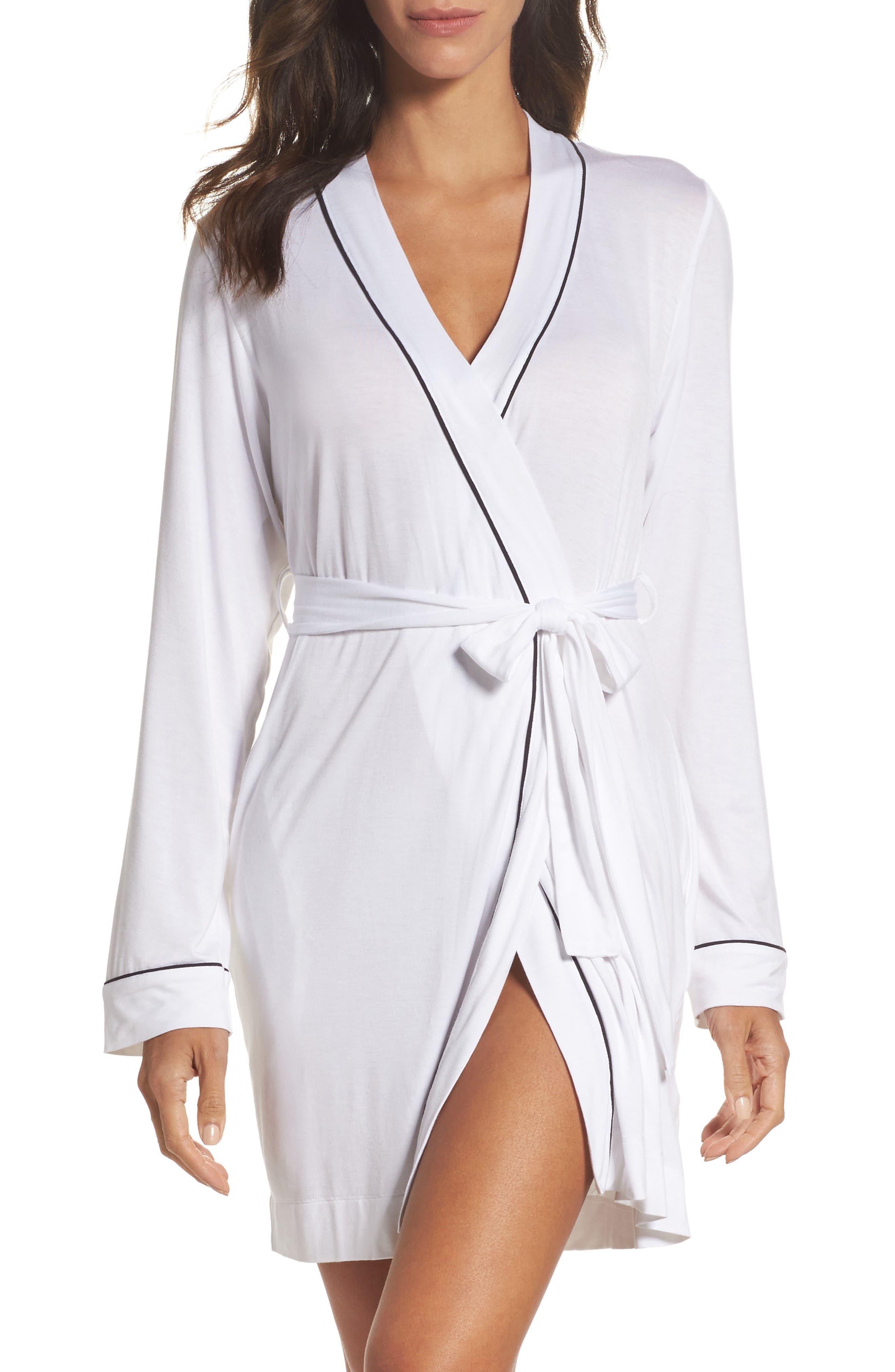 Aldridge Short Robe,                             Main thumbnail 1, color,                             Cream