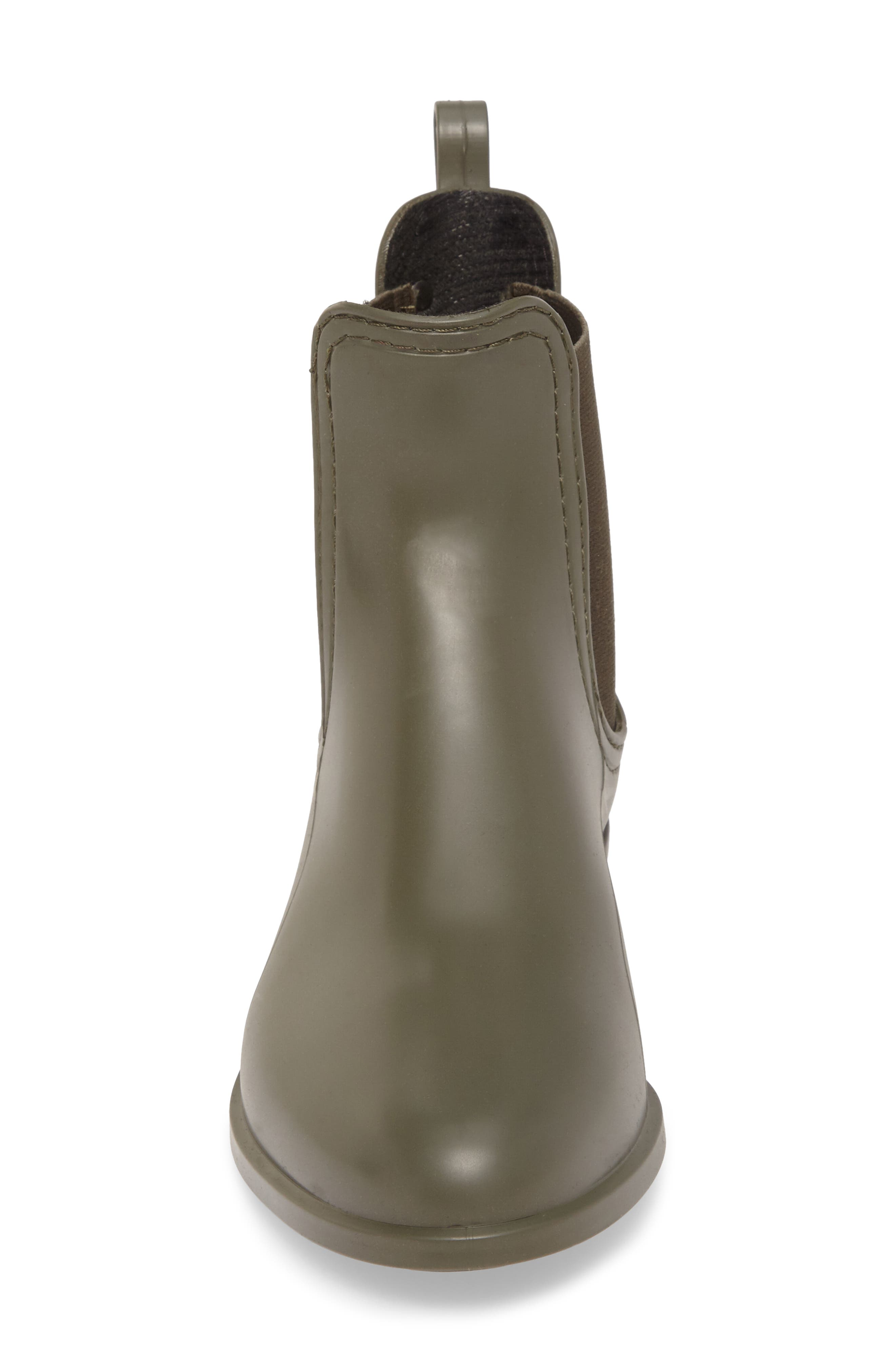 Splash Waterproof Chelsea Boot,                             Alternate thumbnail 4, color,                             Metal Green Matte