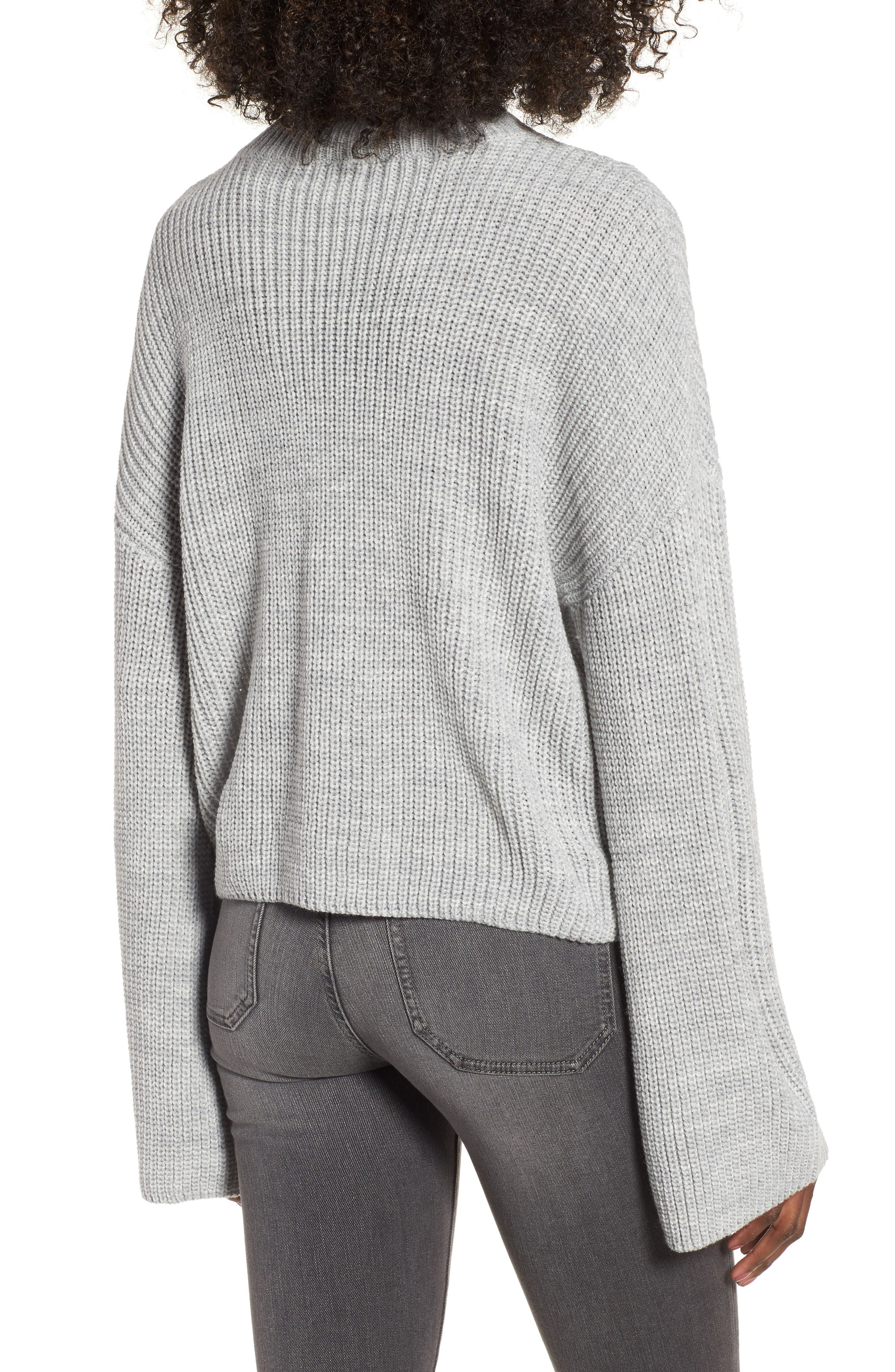 Corset Sweater,                             Alternate thumbnail 2, color,                             Grey