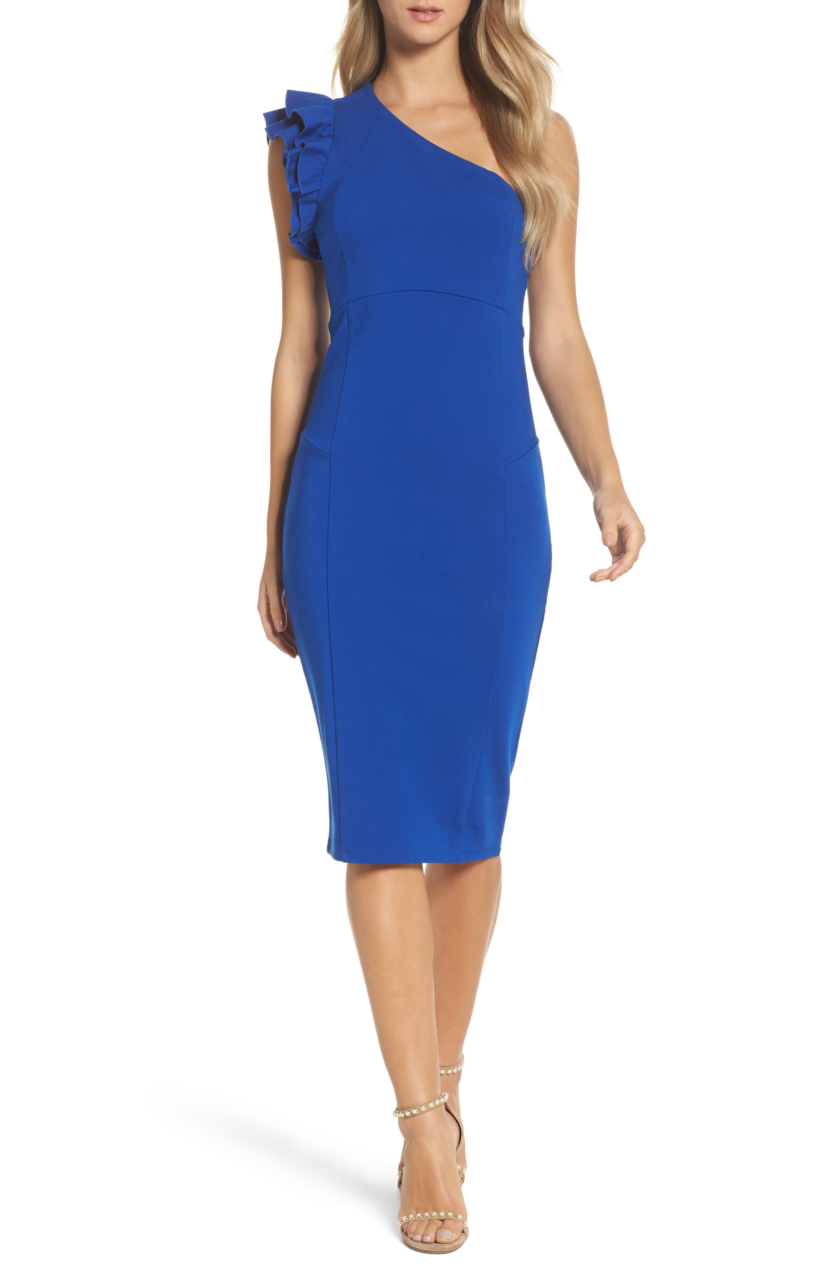 Main Image - Felicity & Coco Marilyn One-Shoulder Sheath Dress (Nordstrom Exclusive)