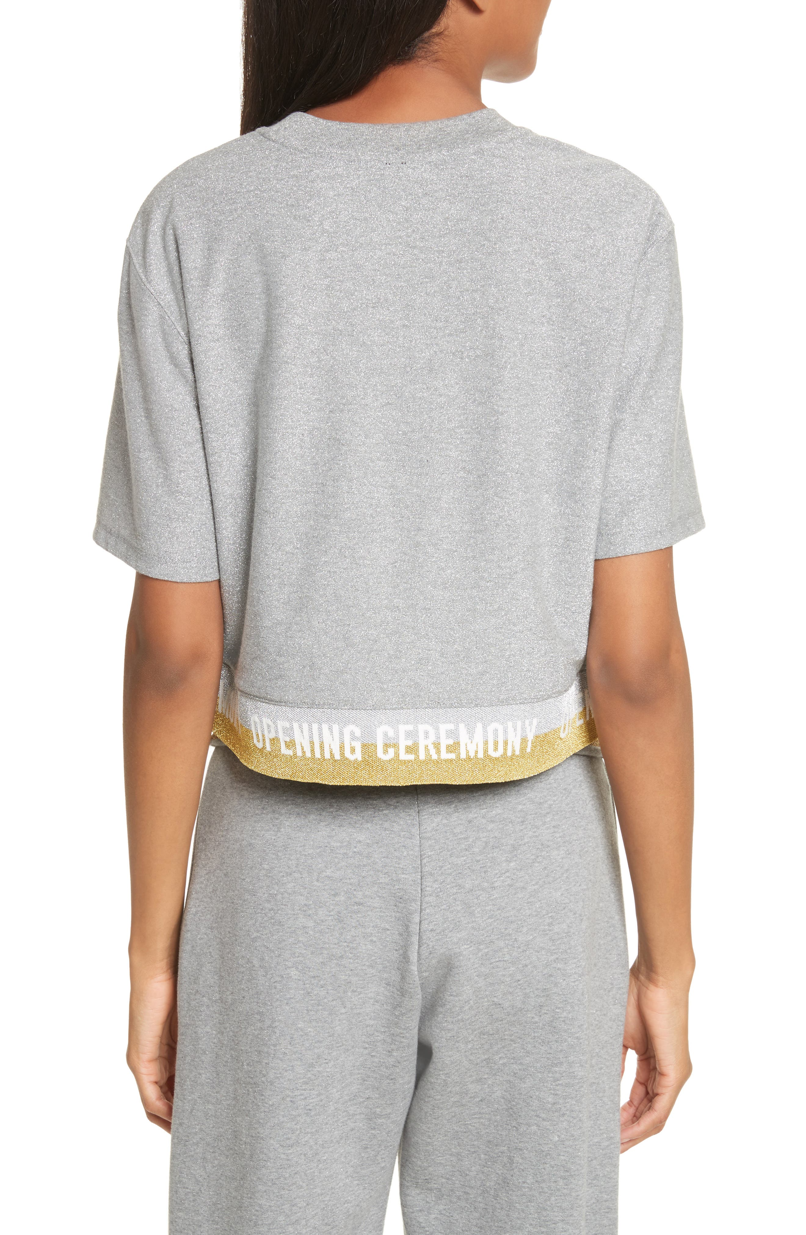 Alternate Image 3  - Opening Ceremony Elastic Logo Crop Tee (Limited Edition)