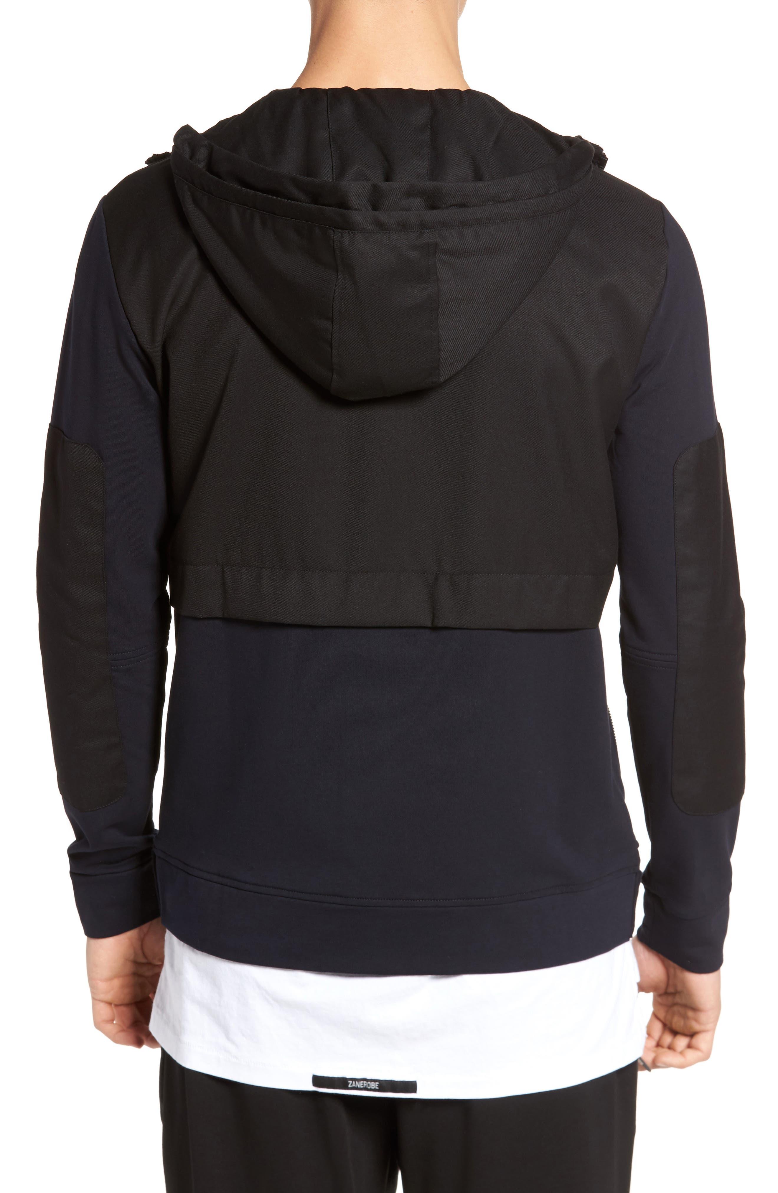 Fleece Zip Up Jacket,                             Alternate thumbnail 2, color,                             Black