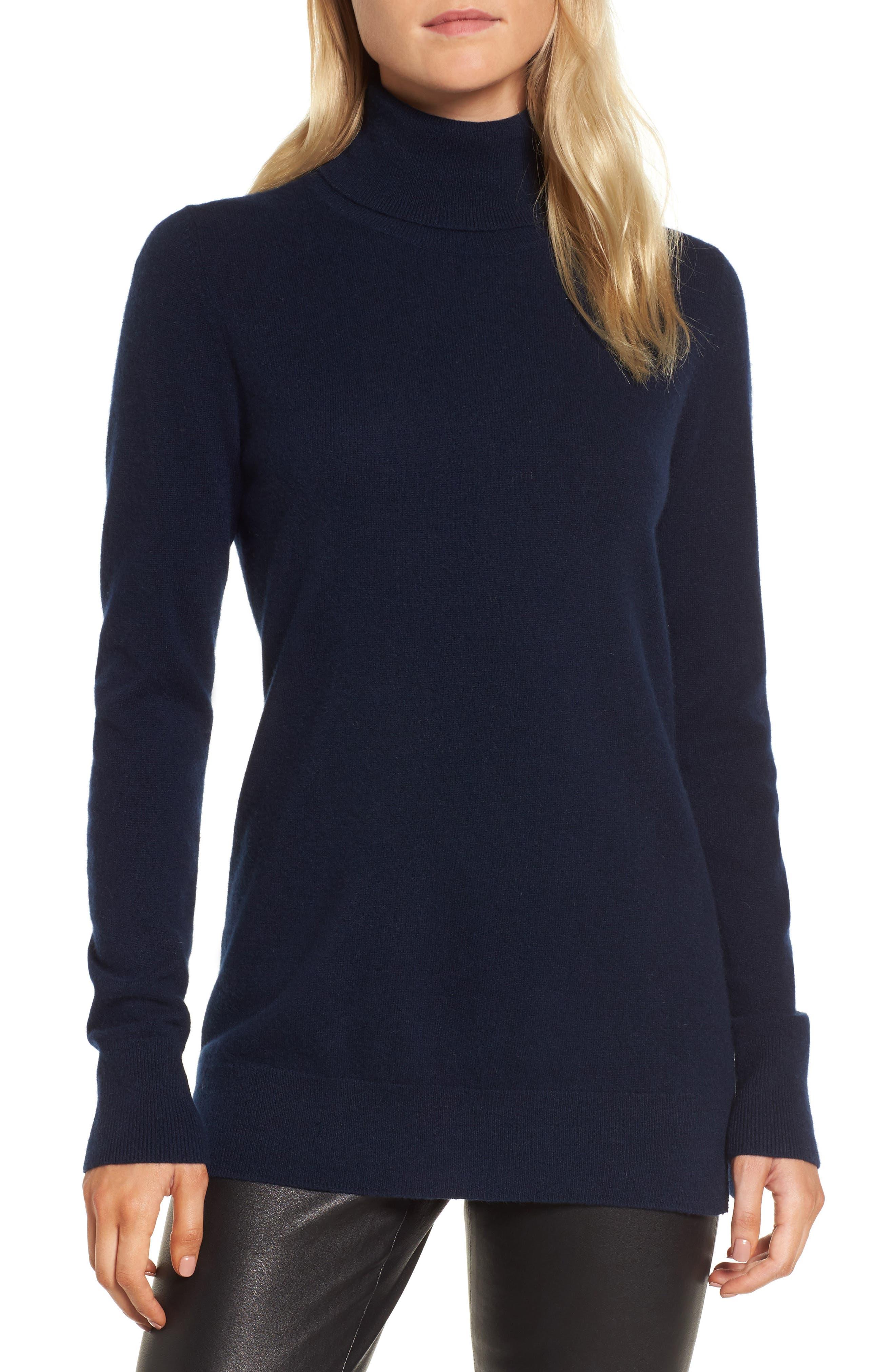 Alternate Image 1 Selected - Nordstrom Signature Turtleneck Cashmere Sweater
