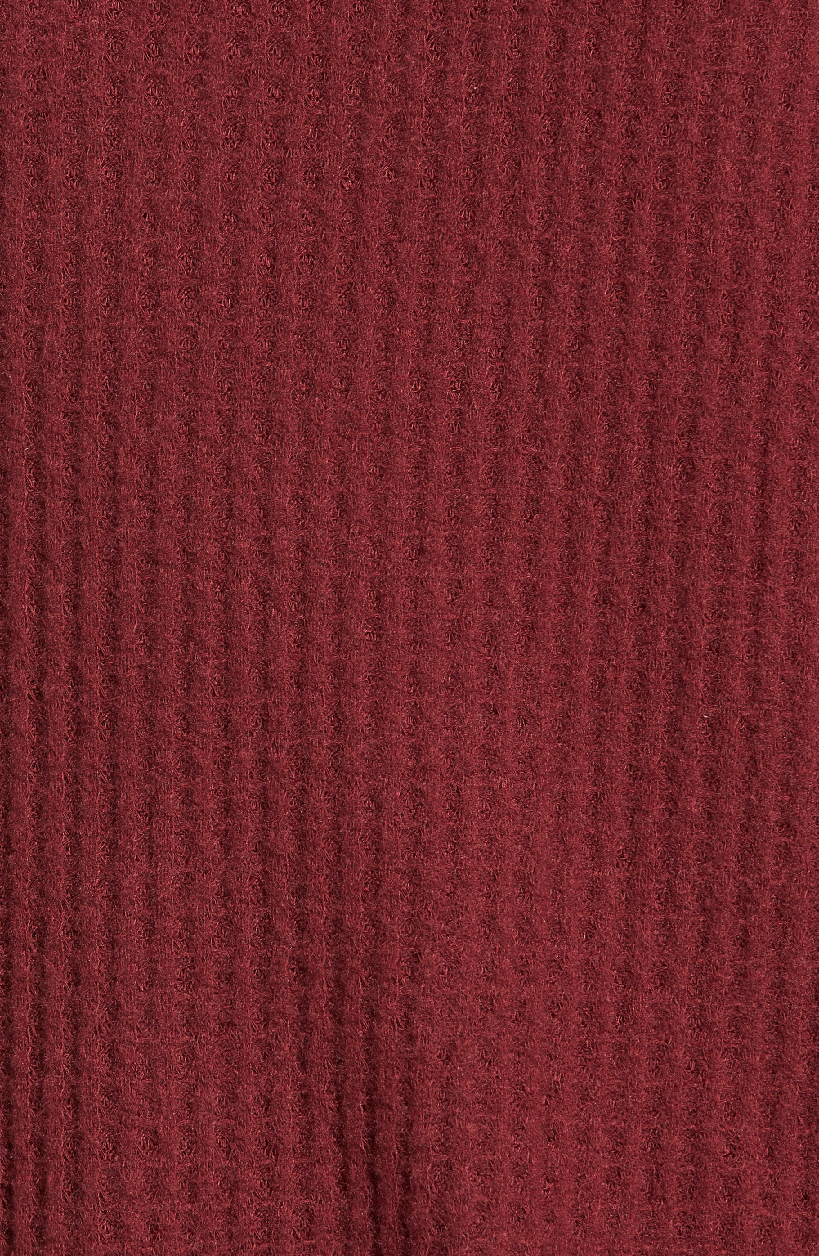 Waffle Knit Top,                             Alternate thumbnail 5, color,                             Red Cordov