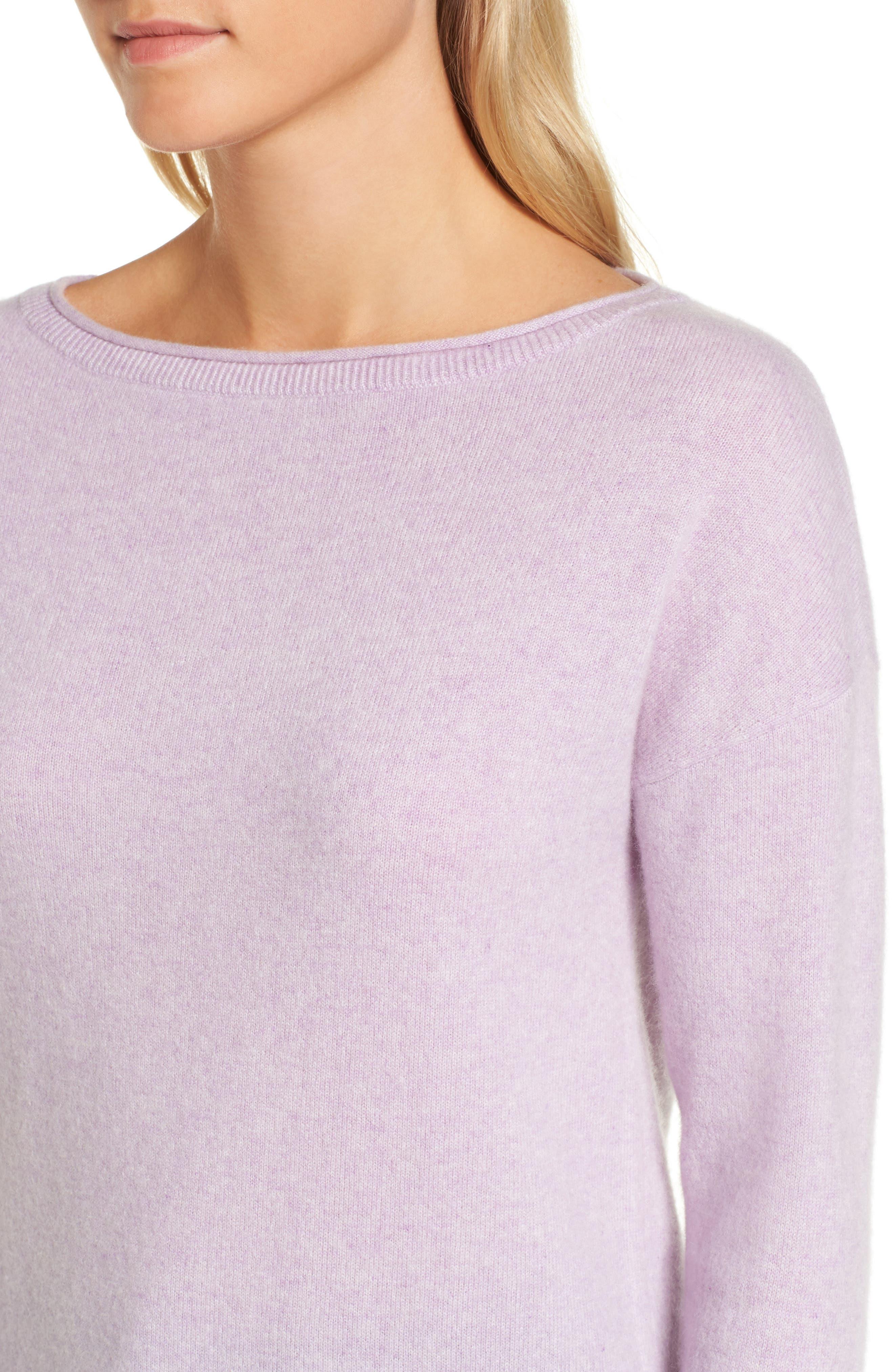 Alternate Image 4  - Nordstrom Signature Boiled Cashmere Sweater