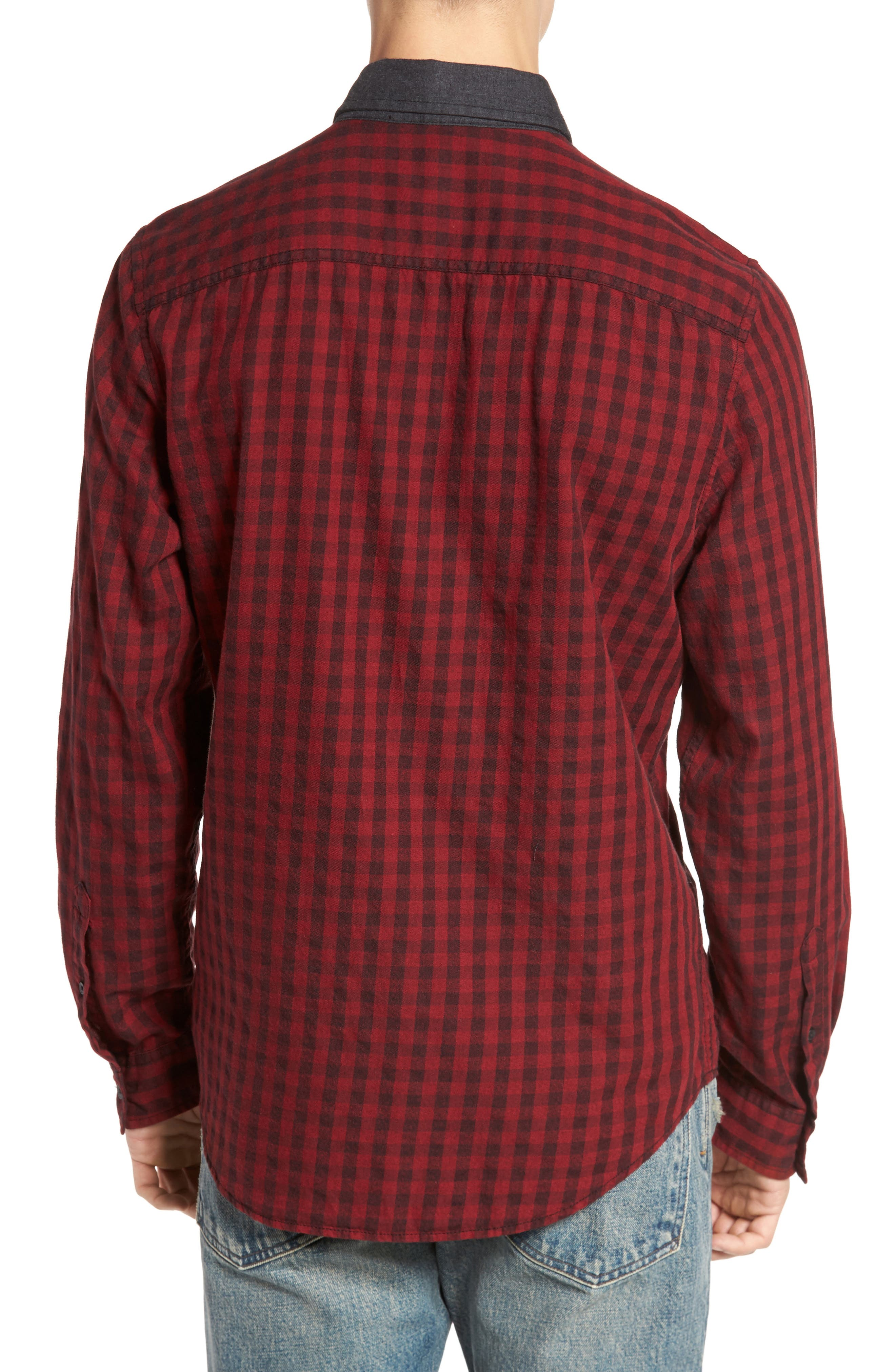 Alternate Image 2  - Calvin Klein Jeans Barn Flannel Shirt