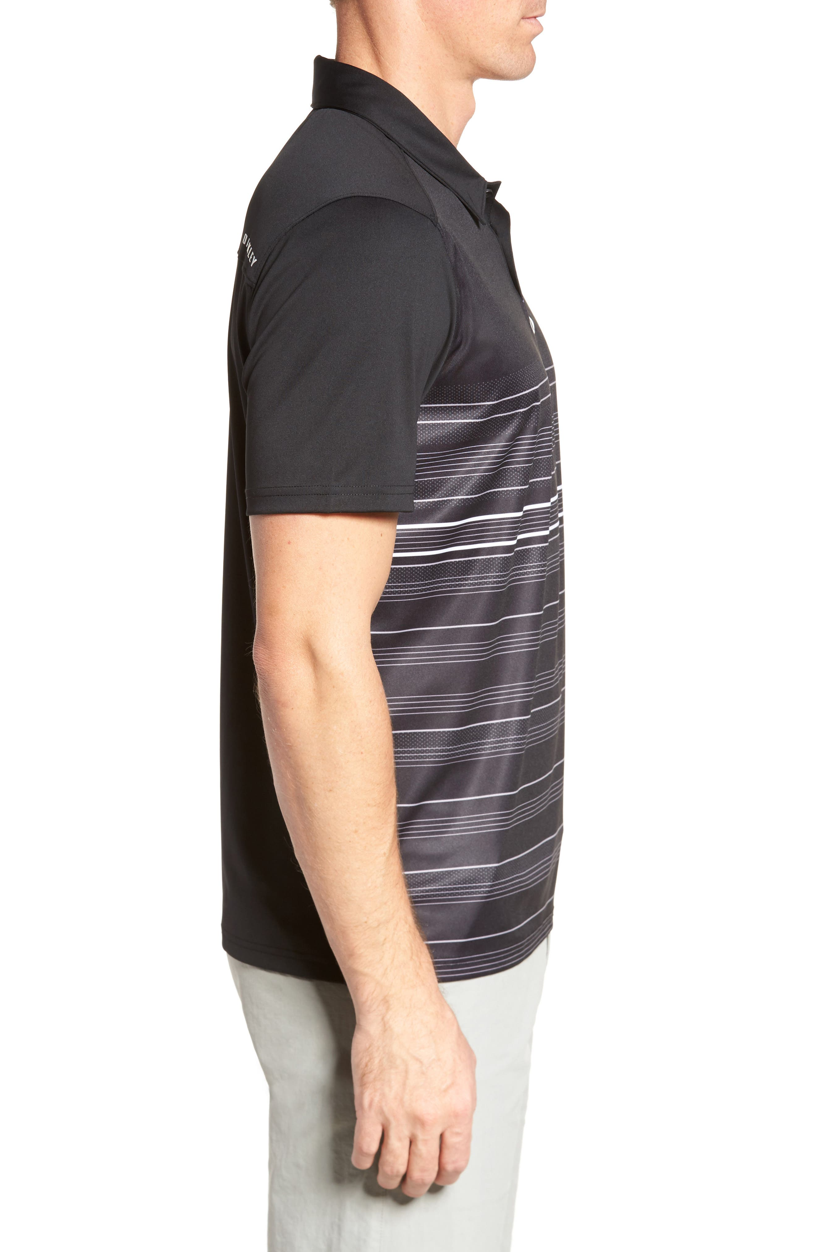High Crest Polo Shirt,                             Alternate thumbnail 3, color,                             Blackout