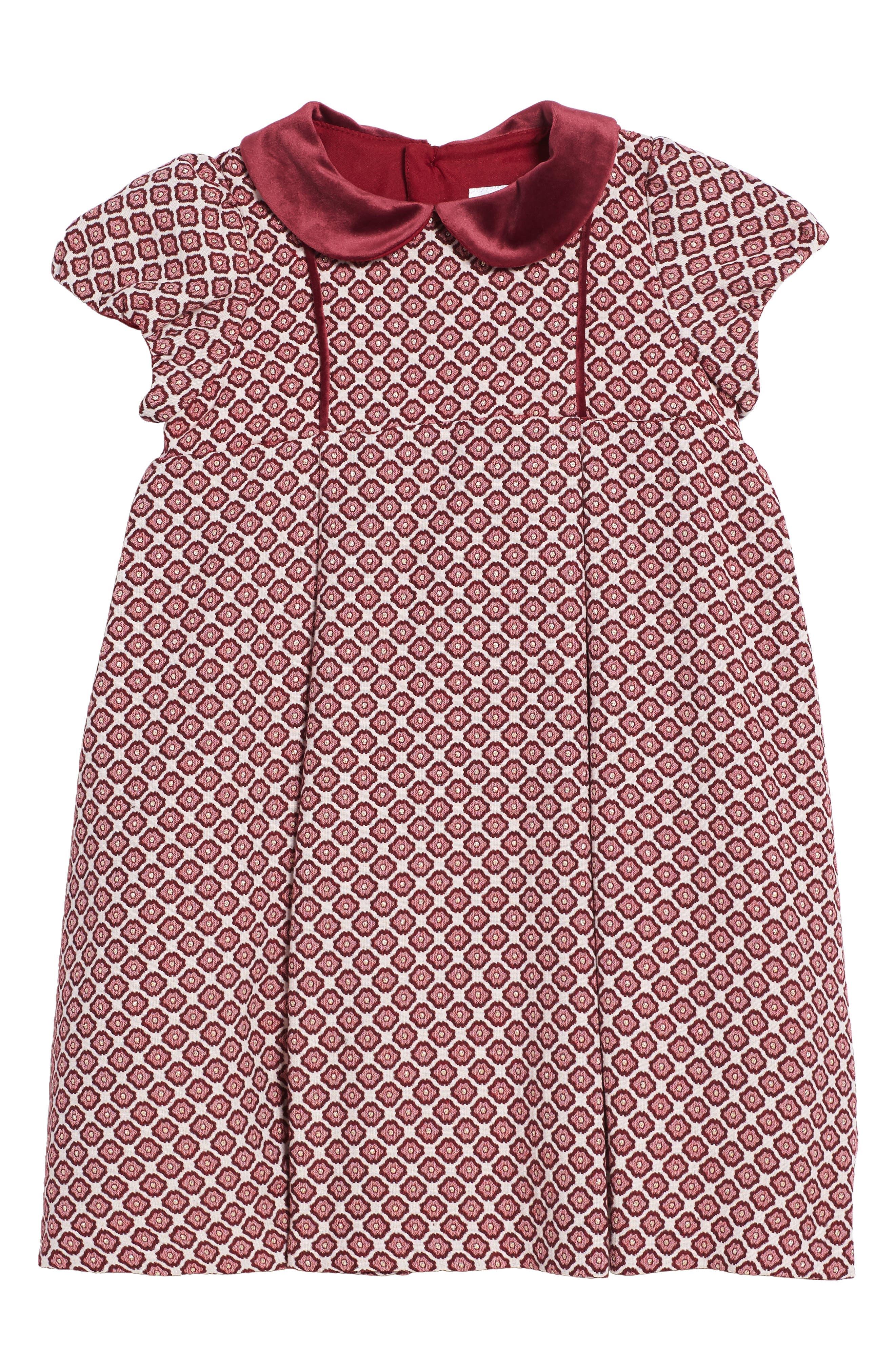 Main Image - Luli & Me Floral Jacquard Dress (Toddler Girls)