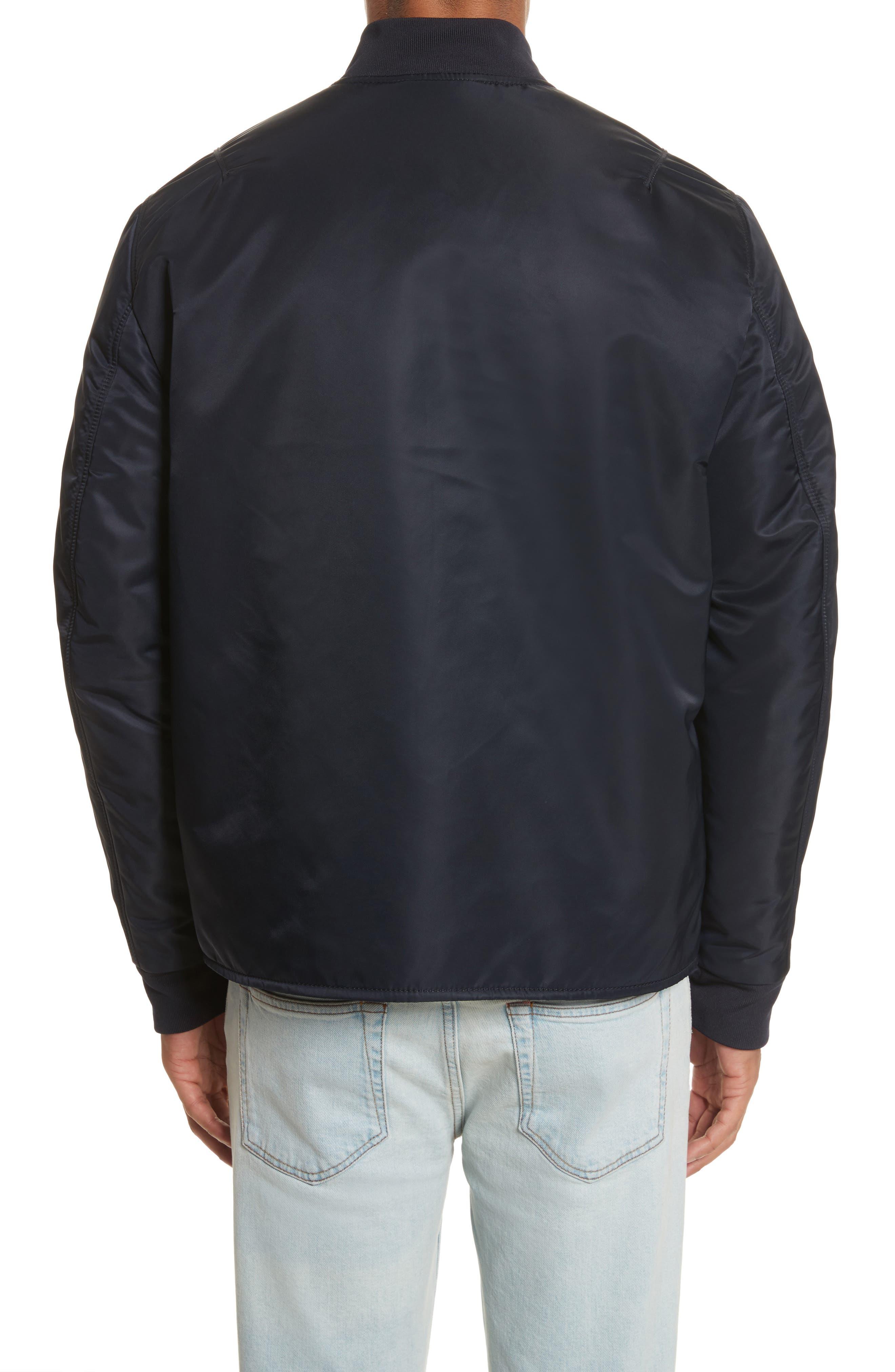 Nylon Bomber Jacket,                             Alternate thumbnail 2, color,                             Steel Blue
