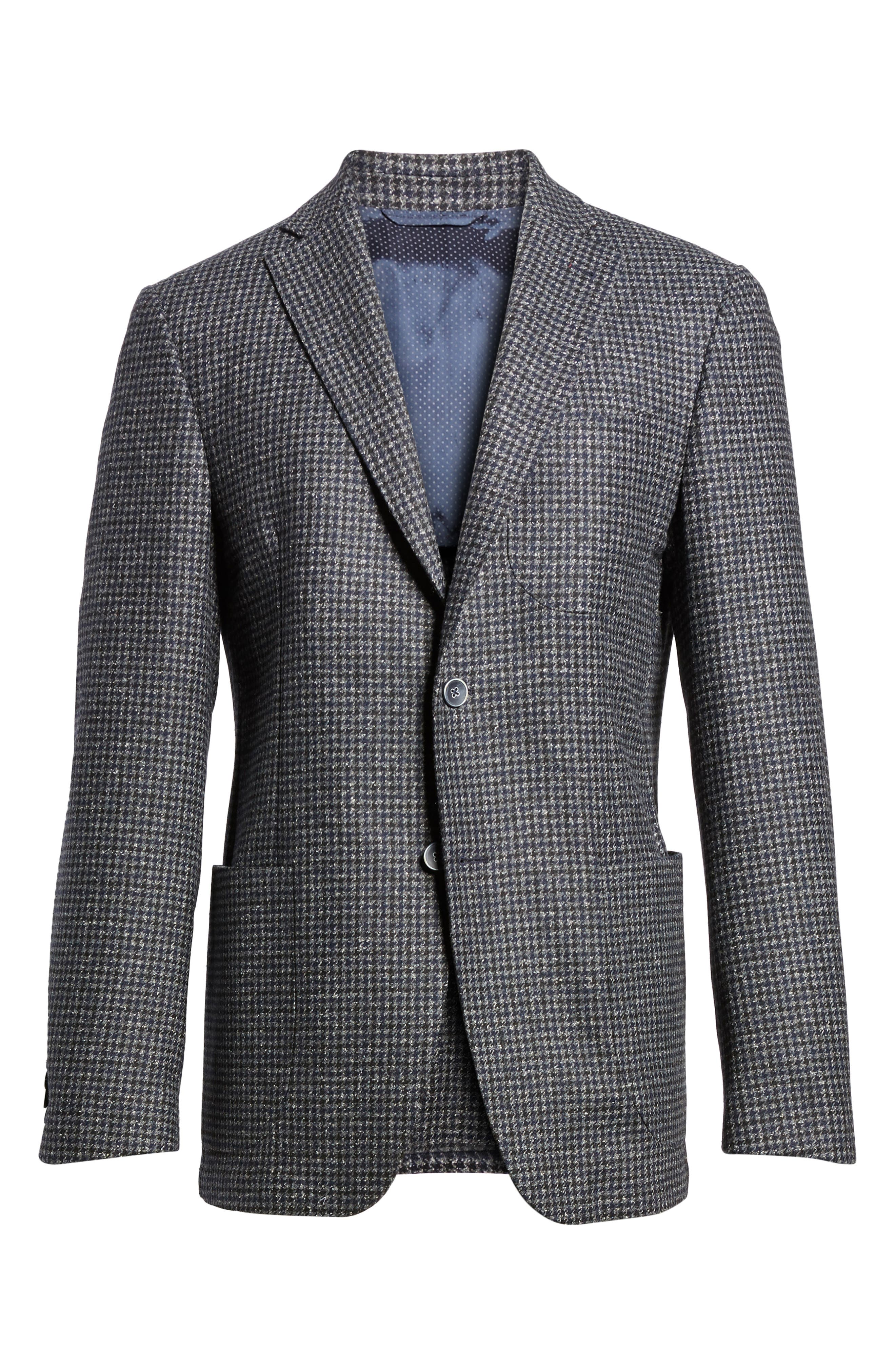 Alternate Image 6  - Bugatchi Wool Blend Houndstooth Blazer
