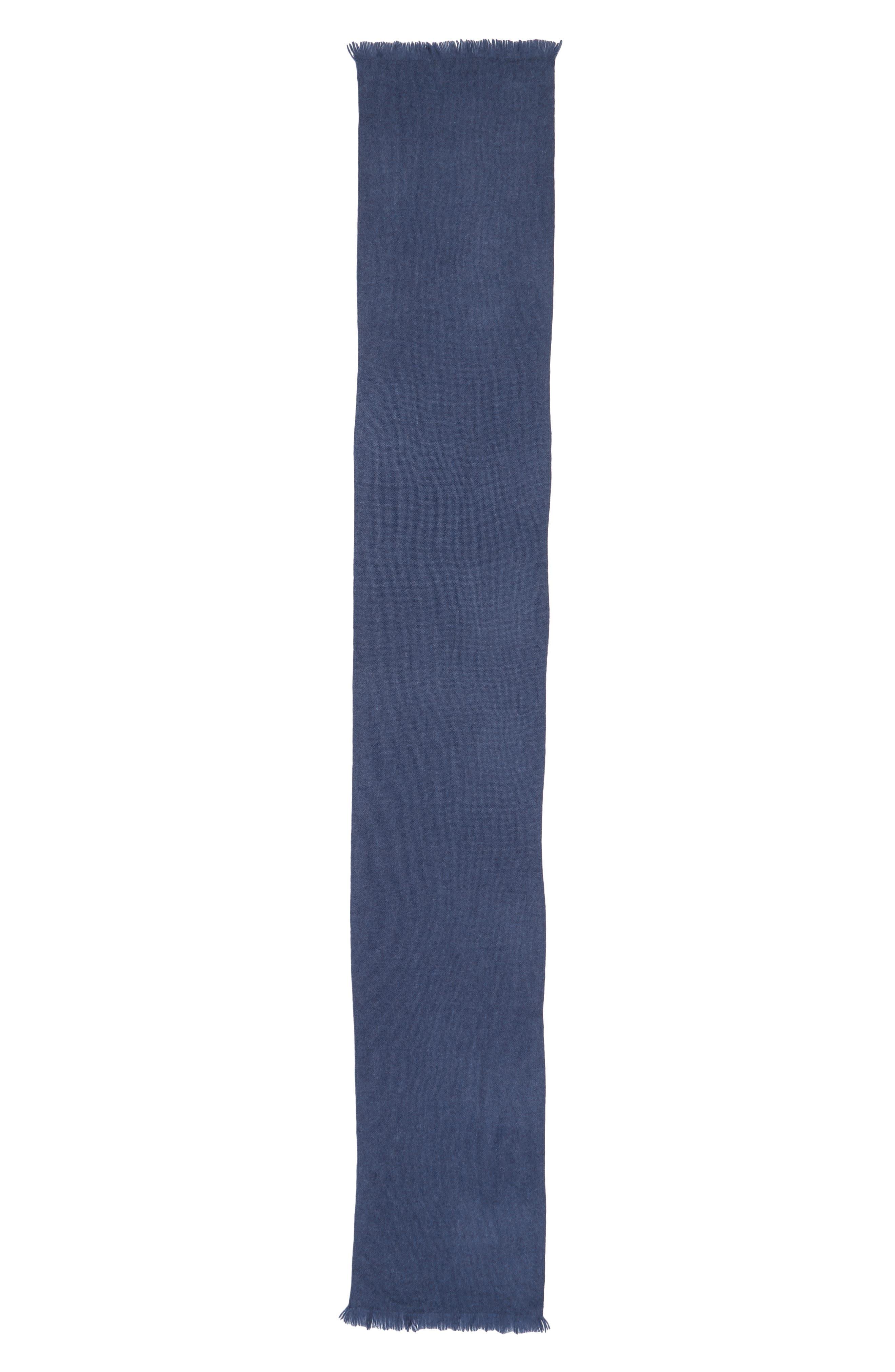 Alternate Image 2  - Nordstrom Men's Shop Solid Cashmere Scarf