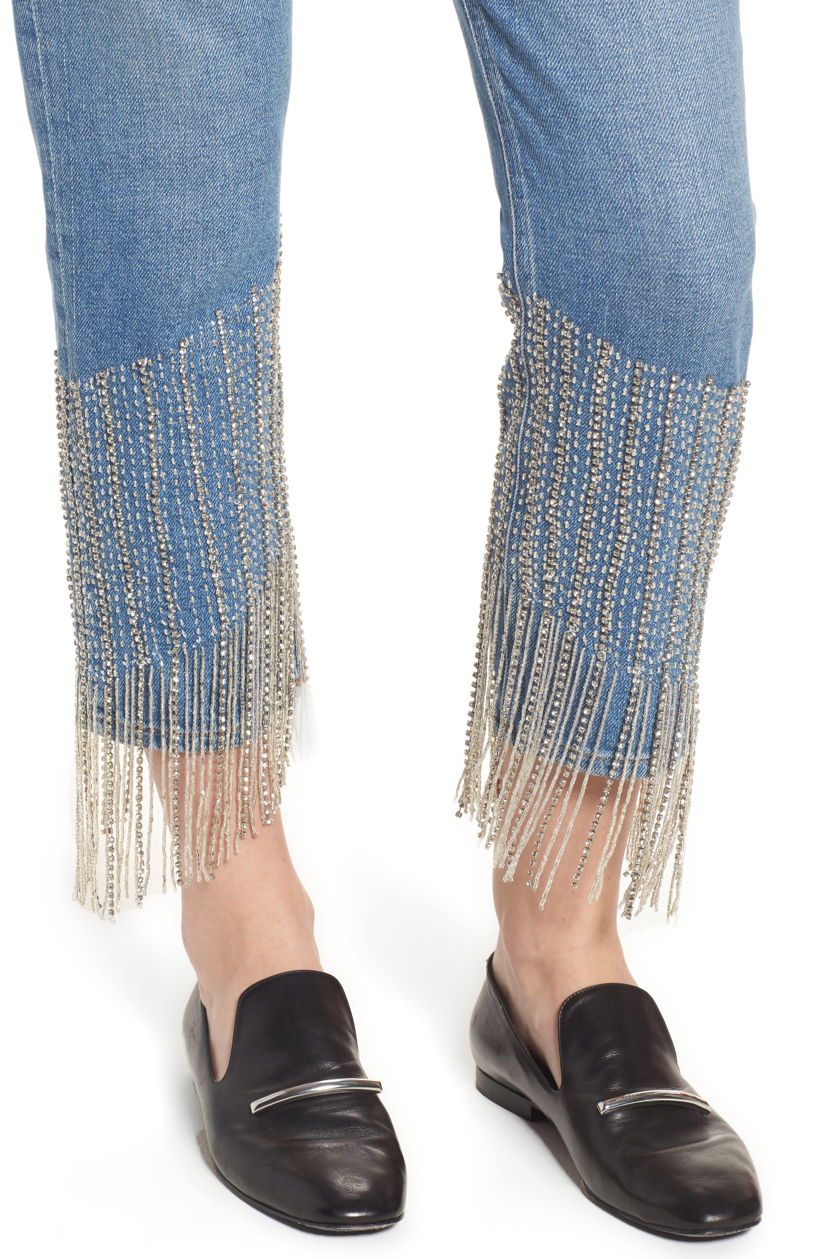 Alternate Image 4  - Topshop Crystal Embellished Moto Jeans