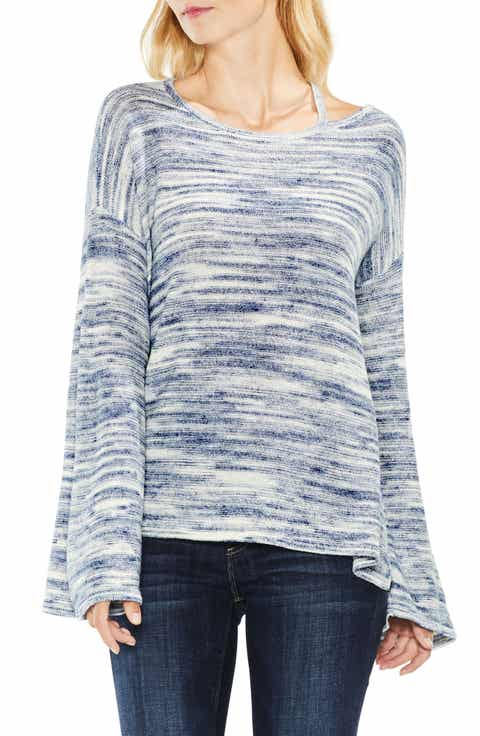 Two by Vince Camuto Drop Shoulder Space Dye Sweater