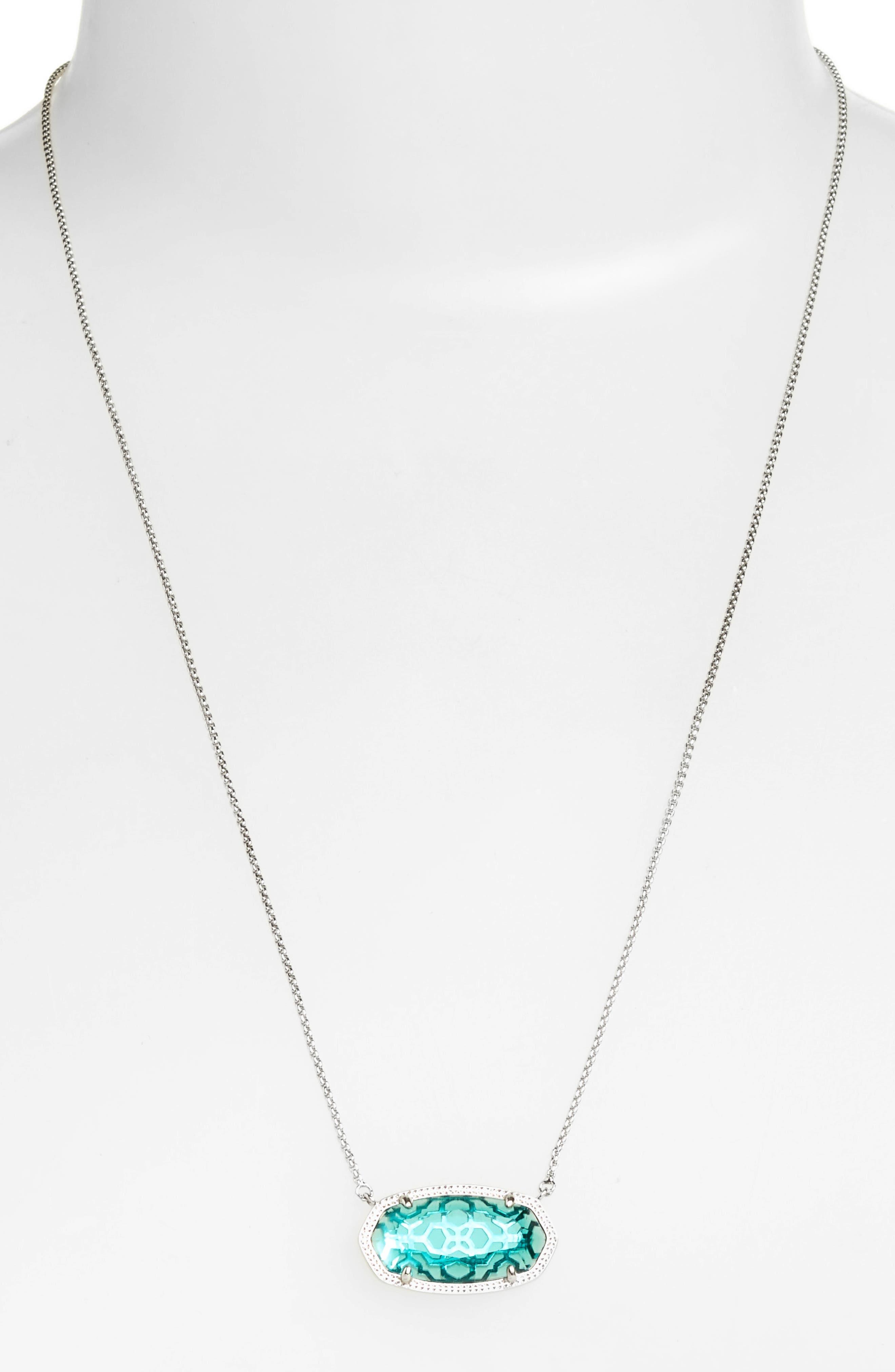 Delaney Pendant Necklace,                             Alternate thumbnail 2, color,                             London Blue/ Silver