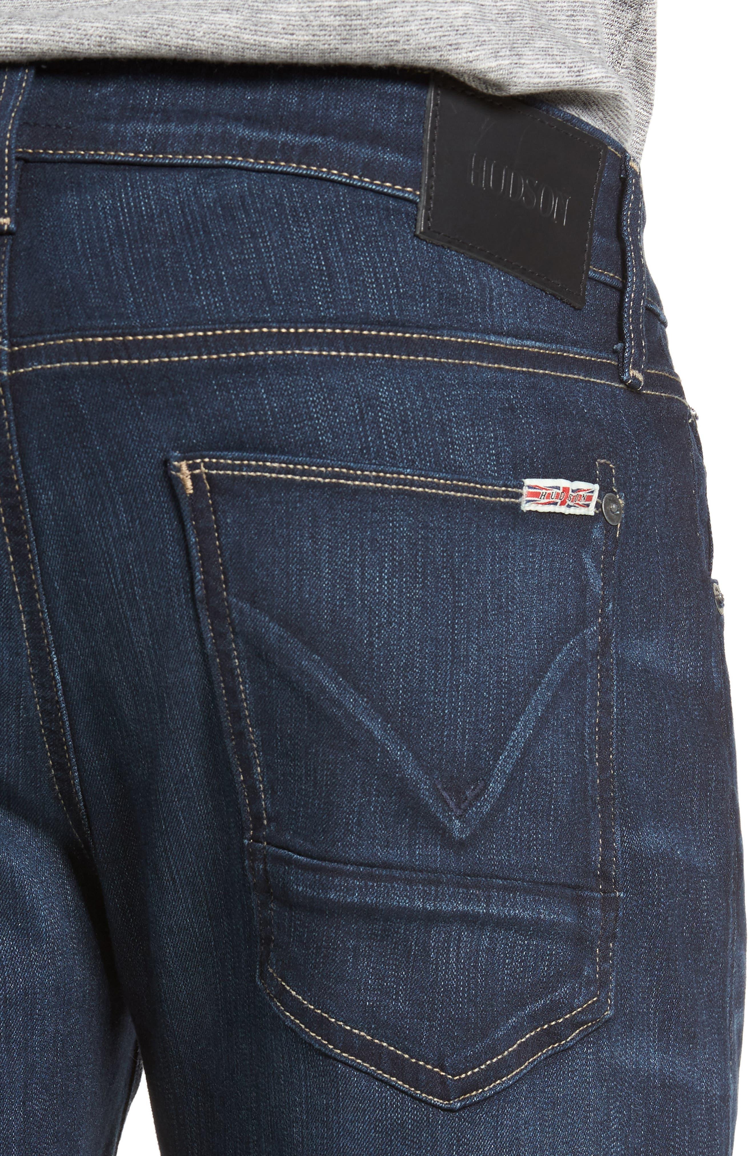 Alternate Image 4  - Hudson Jeans Byron Slim Straight Fit Jeans (Newburyport)