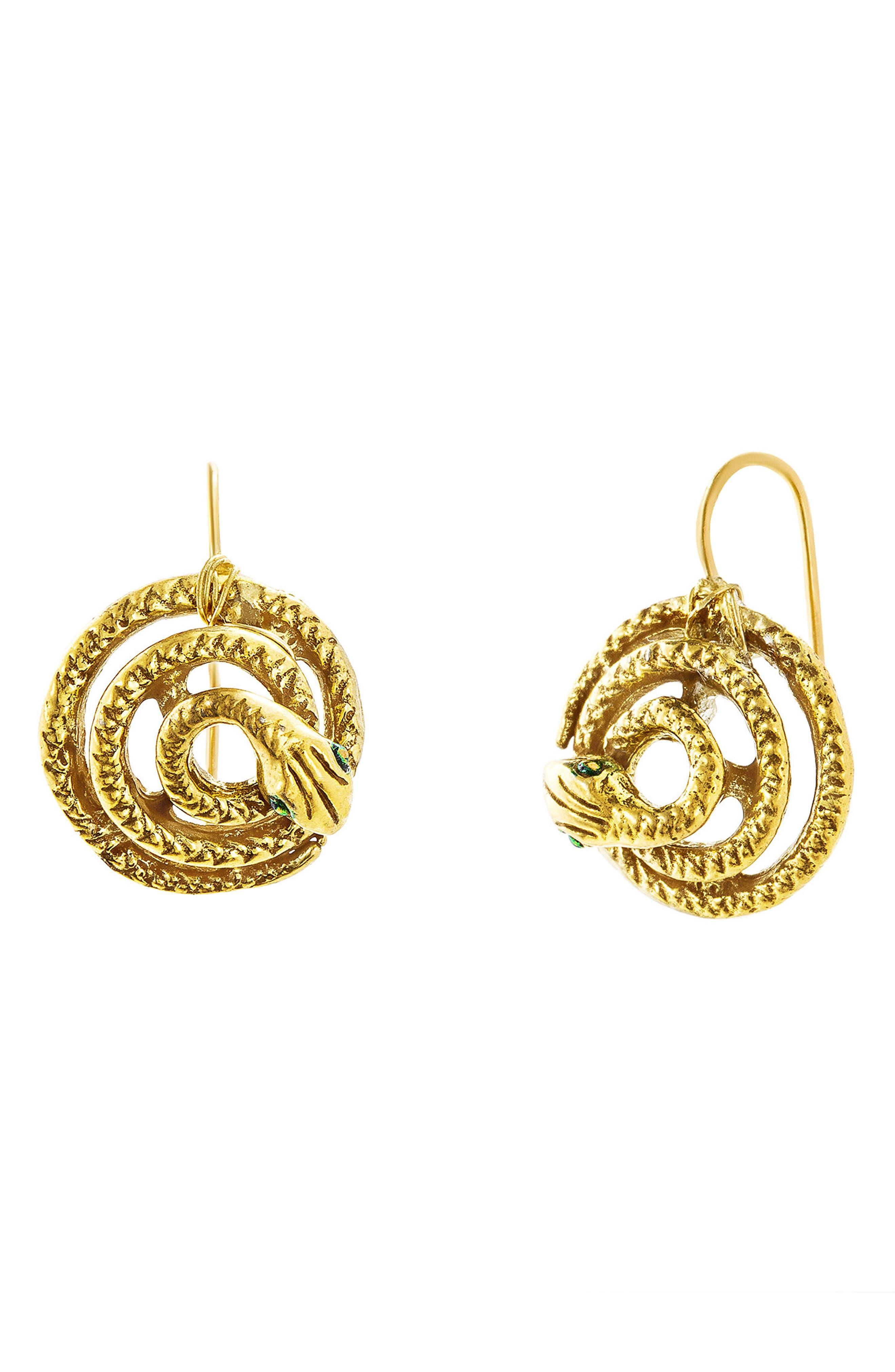 Alternate Image 1 Selected - Steve Madden Snake Earrings