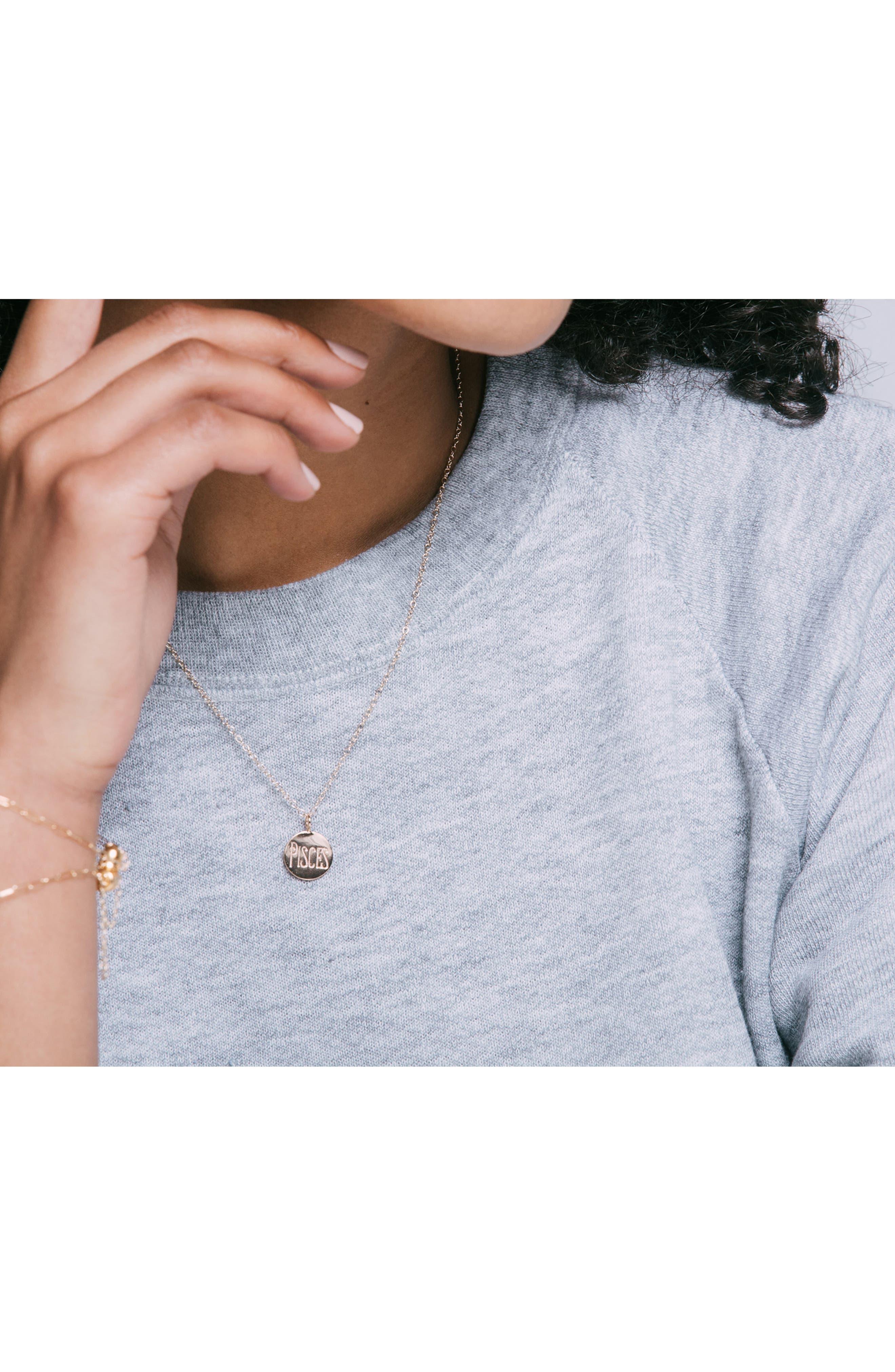 Zodiac Charm Necklace,                             Alternate thumbnail 2, color,                             Virgo - Silver