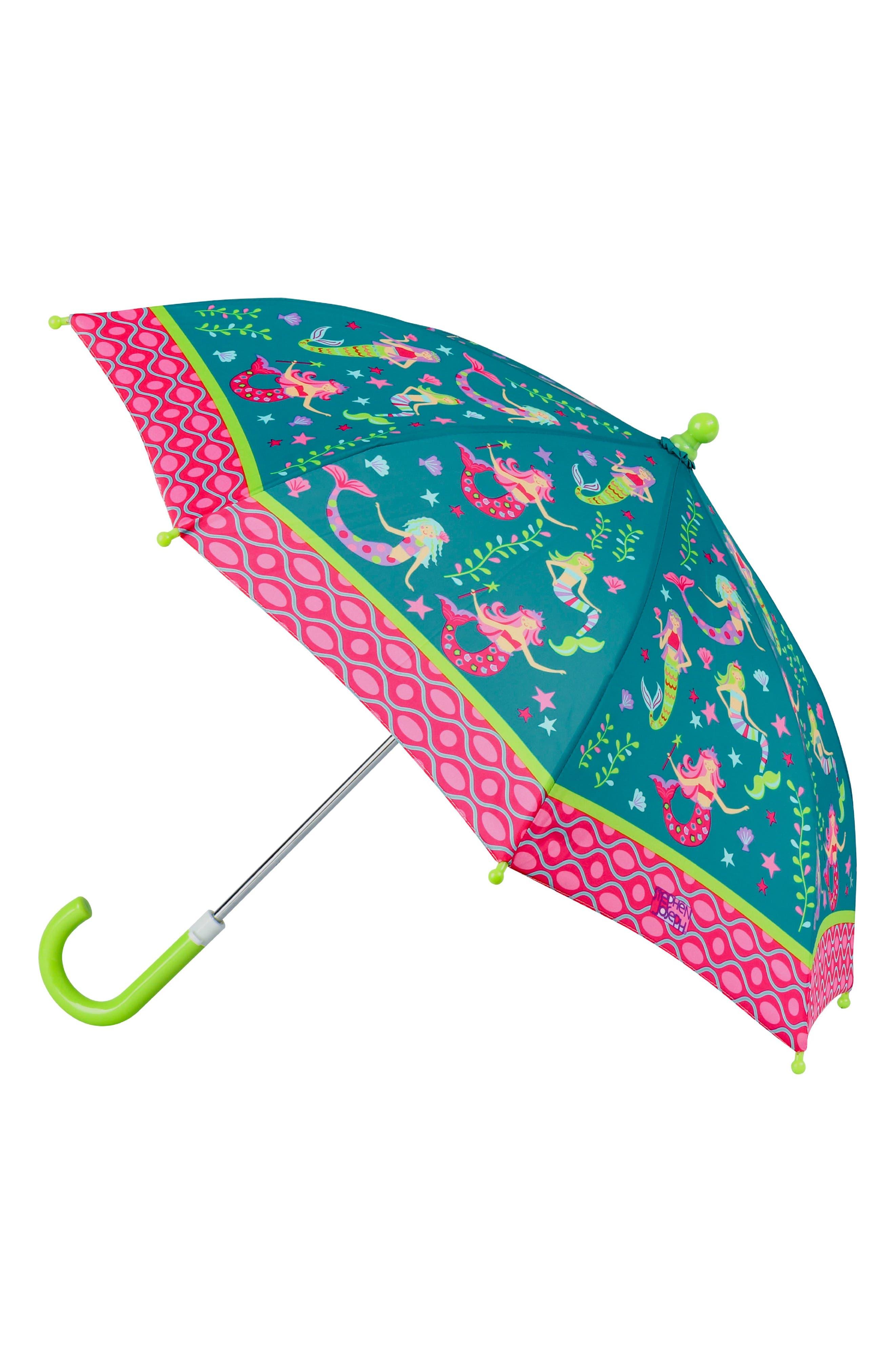 Alternate Image 4  - Stephen Joseph Mermaid Raincoat & Umbrella Set (Toddler Girls, Little Girls & Big Girls)