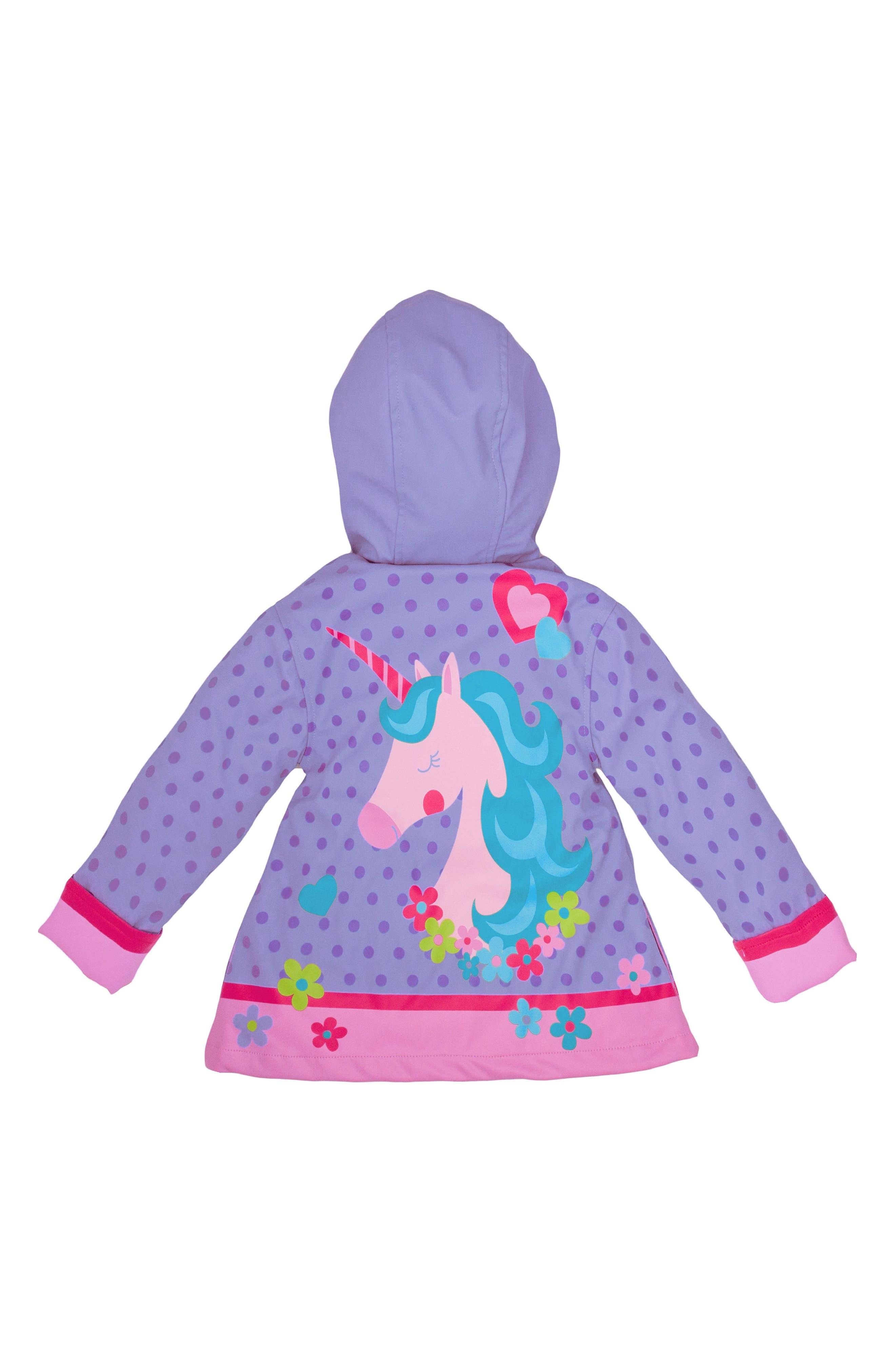 Alternate Image 3  - Stephen Joseph Unicorn Raincoat & Umbrella Set (Toddler Girls, Little Girls)