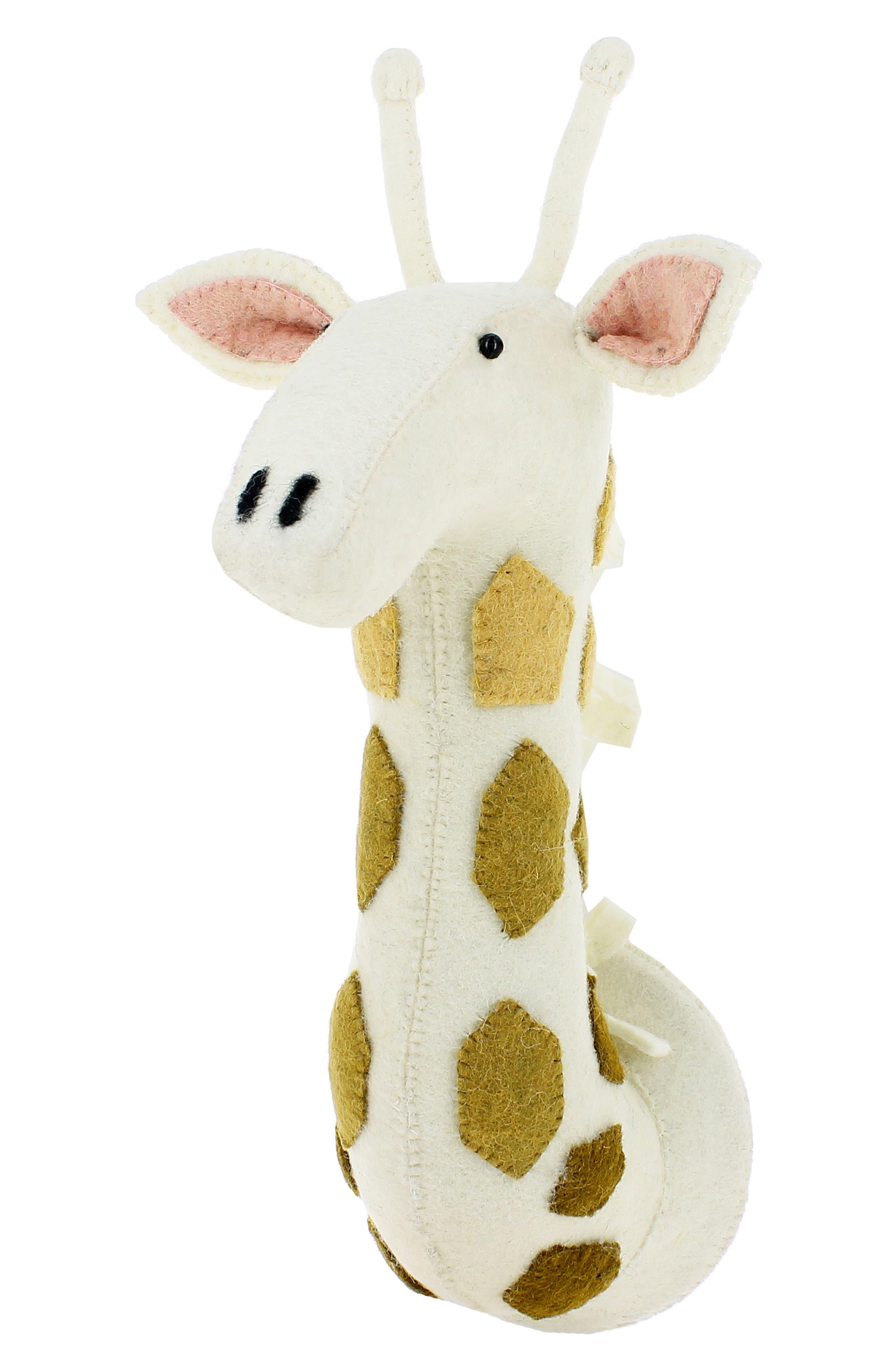 Ombré Spot Giraffe Head Wall Art,                             Alternate thumbnail 3, color,                             Cream