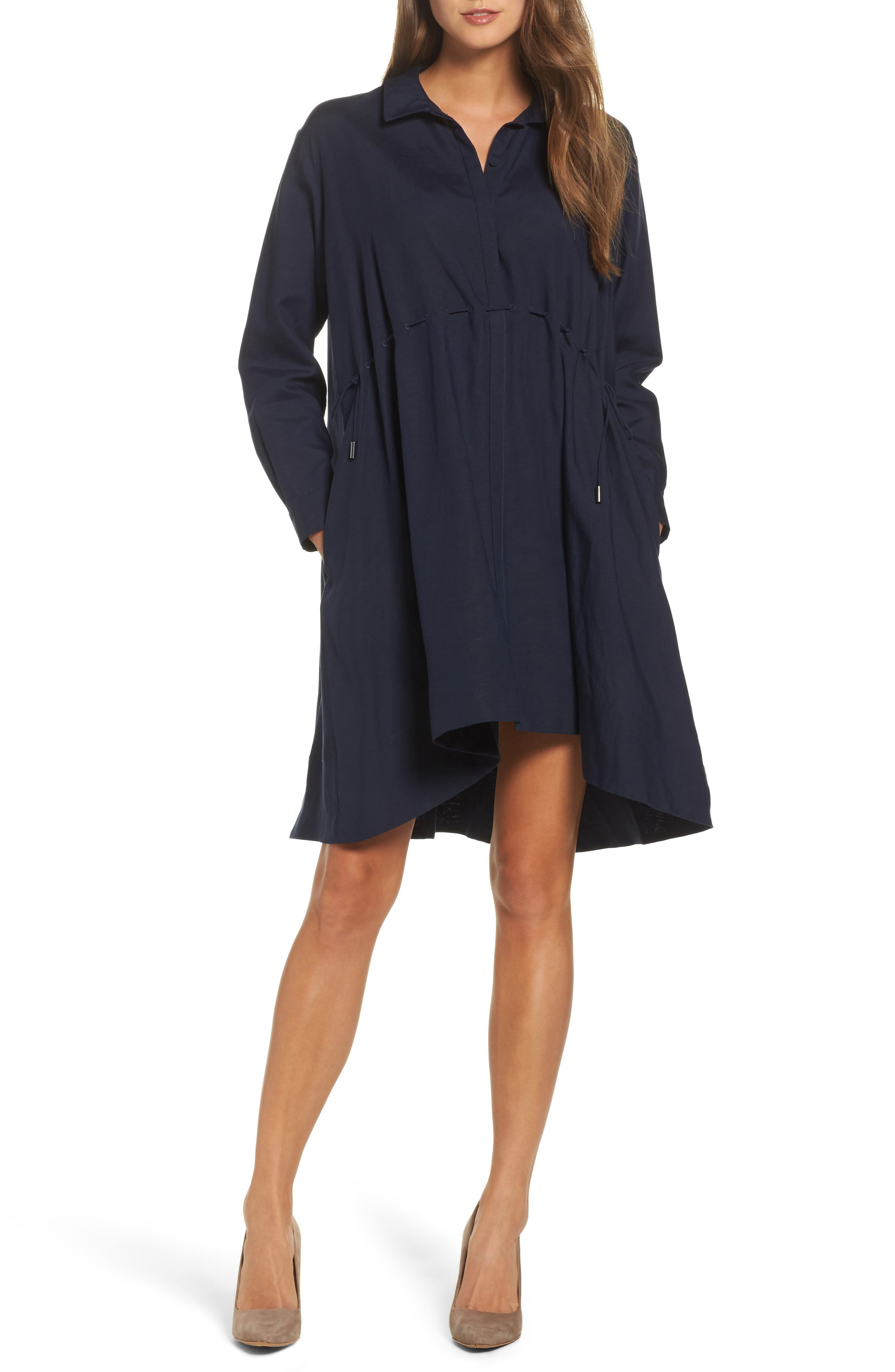 Main Image - French Connection Ellesmere Drape Shirtdress