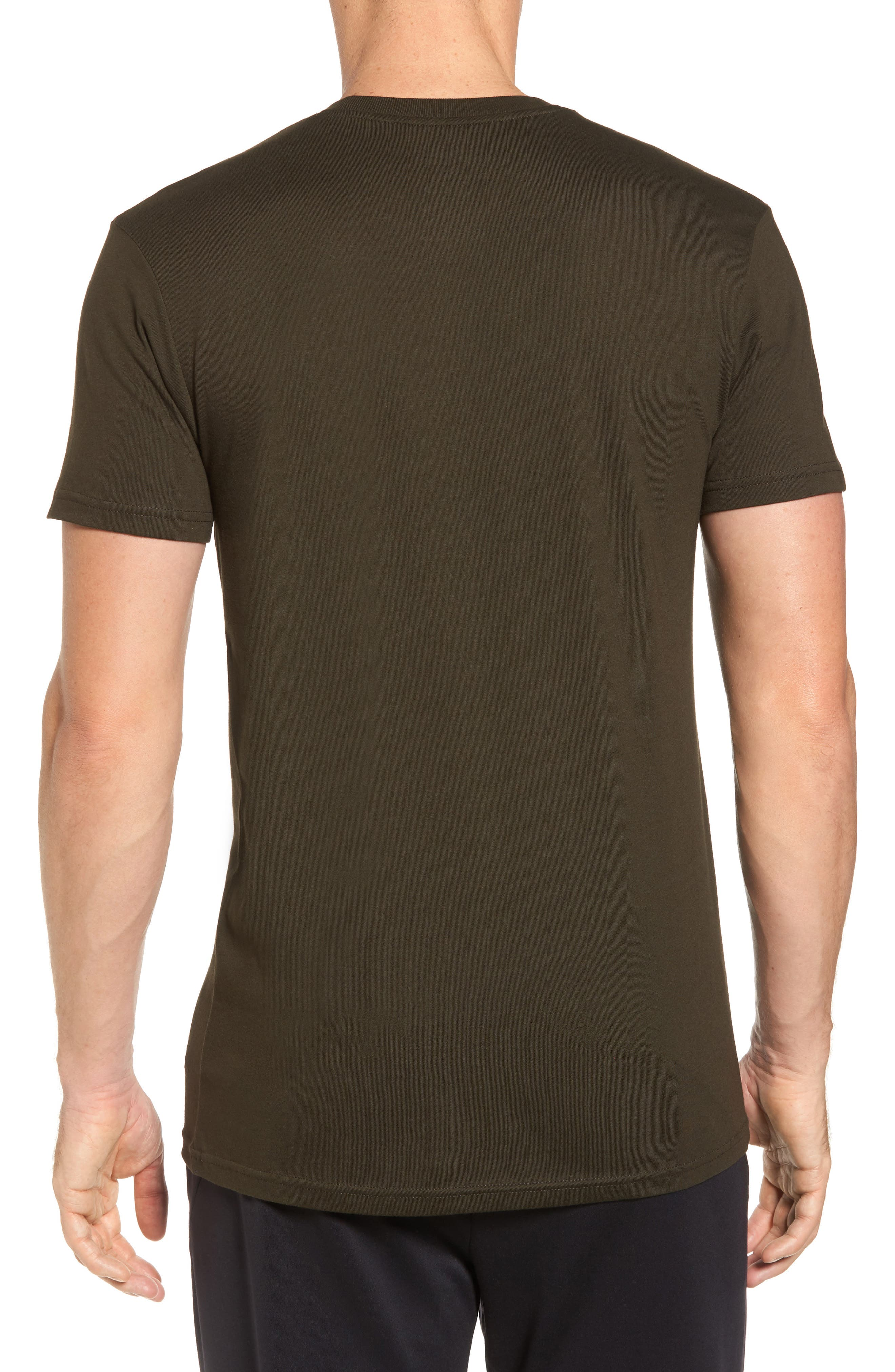 Supreme Comfort Short Sleeve Pajama Top,                             Alternate thumbnail 2, color,                             Rich Olive/ Chic Cream