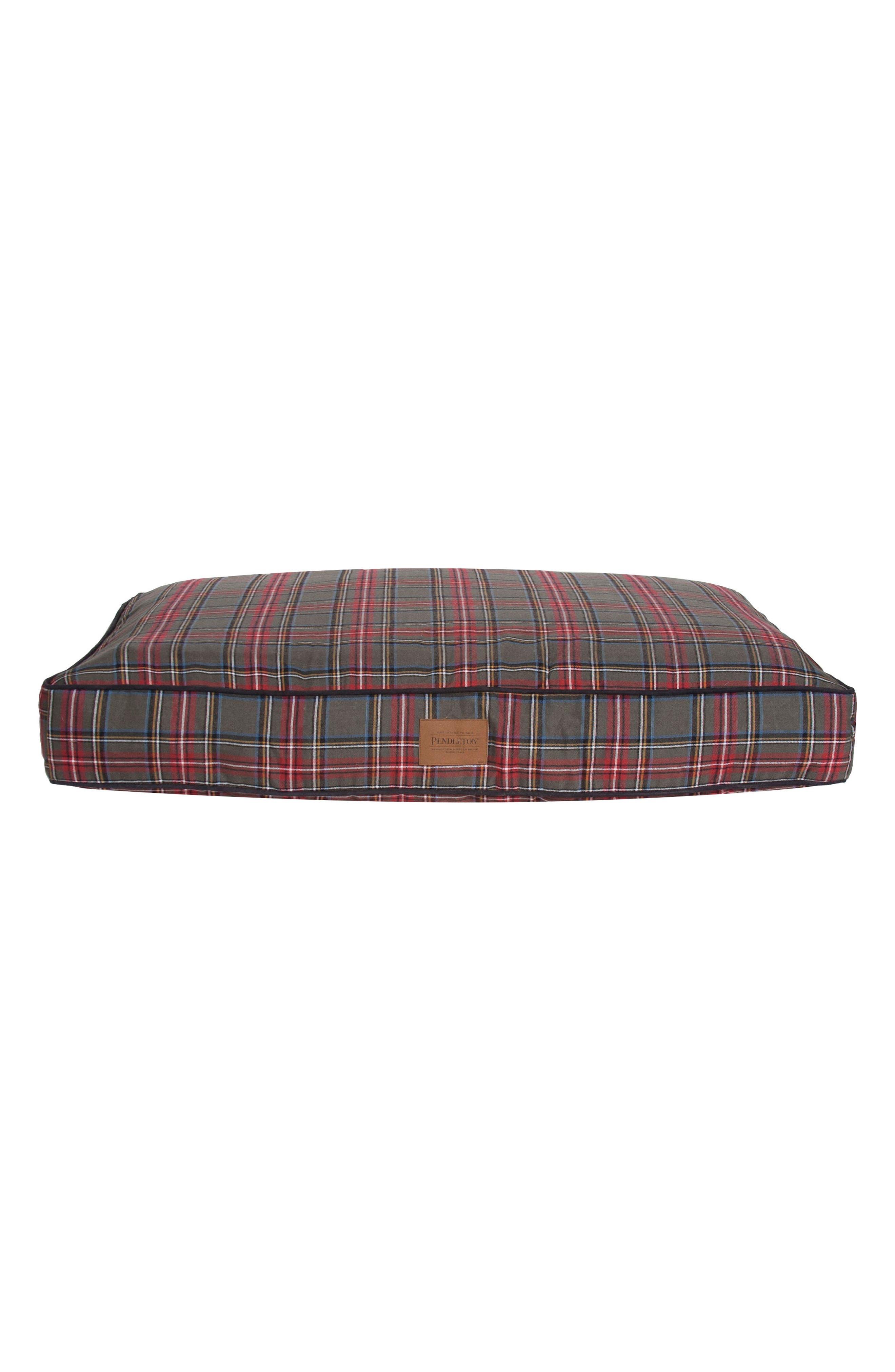 x Pendleton Classics Tartan Pet Bed,                         Main,                         color, Grey Stewart