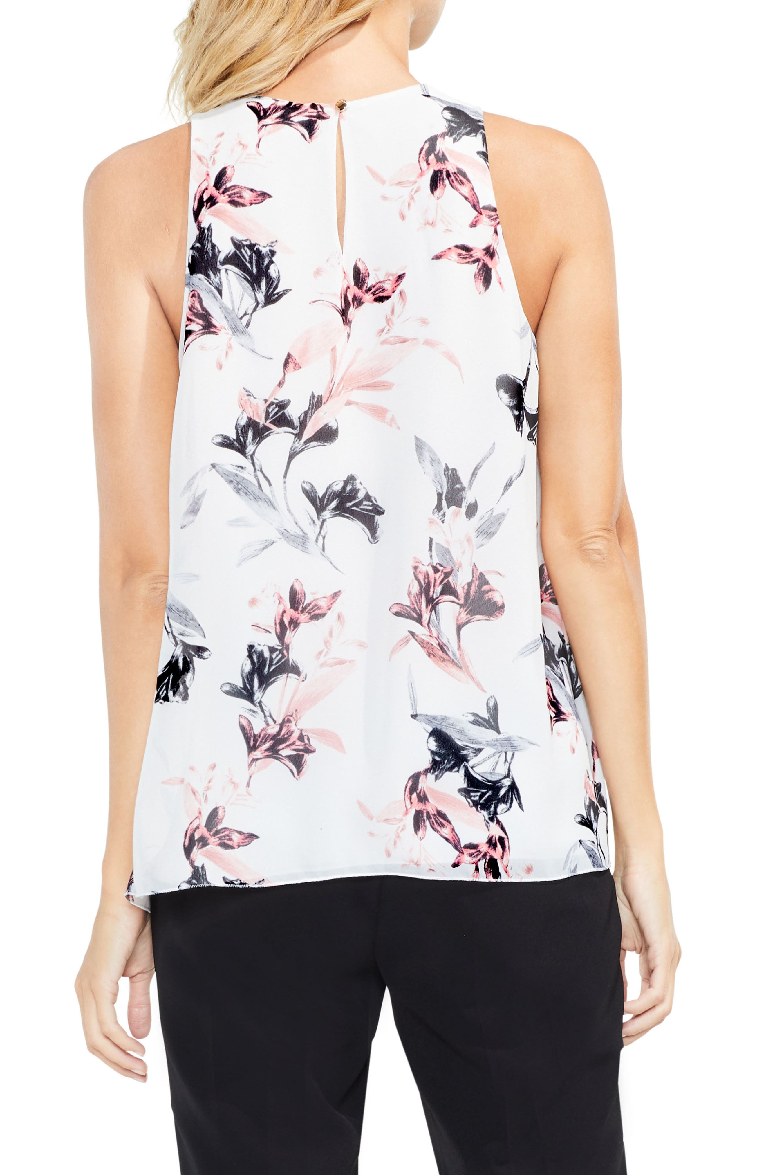 Alternate Image 3  - Vince Camuto Lily Melody Sleeveless Blouse