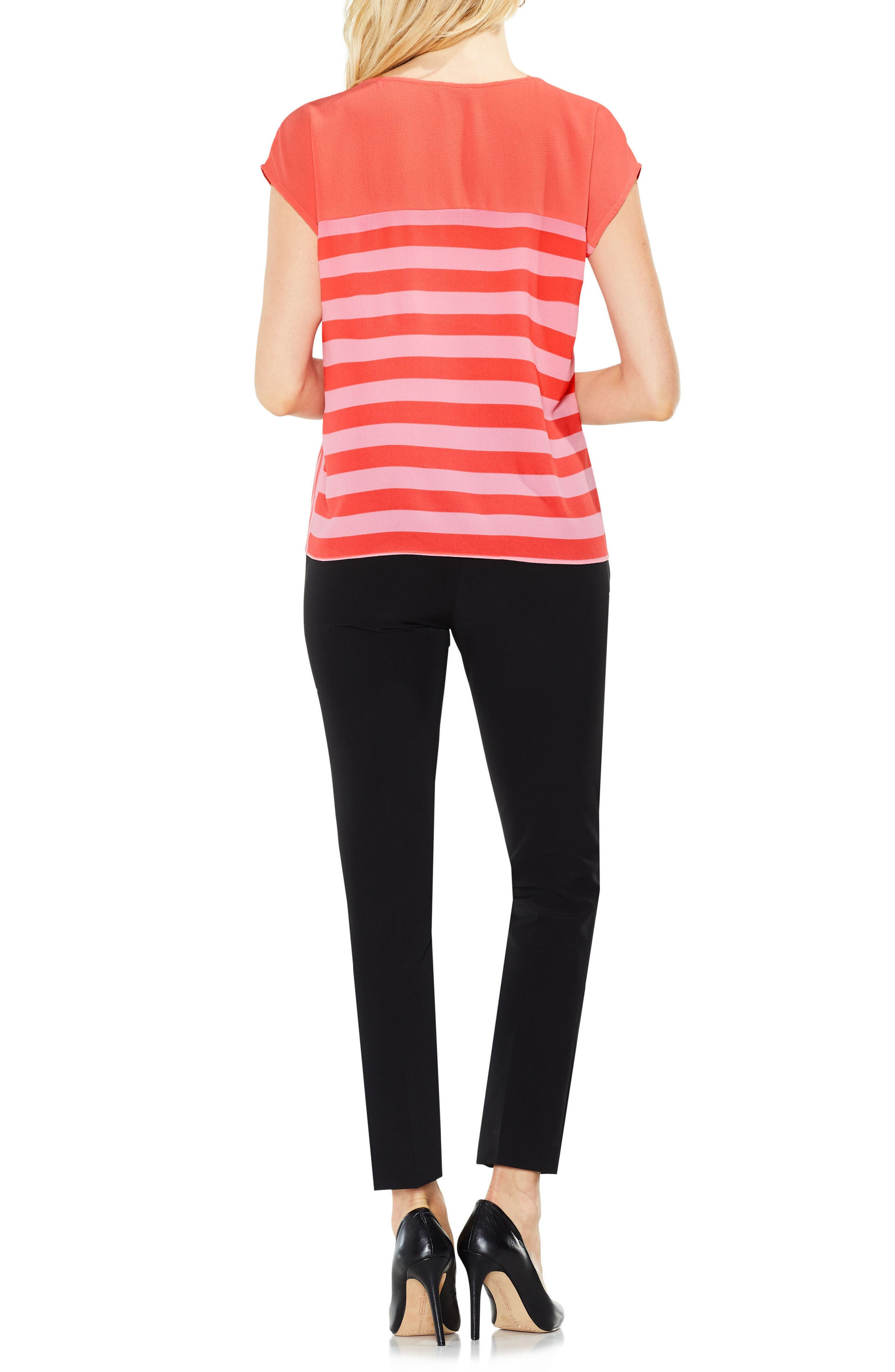 Alternate Image 3  - Vince Camuto Mixed Stripe Top