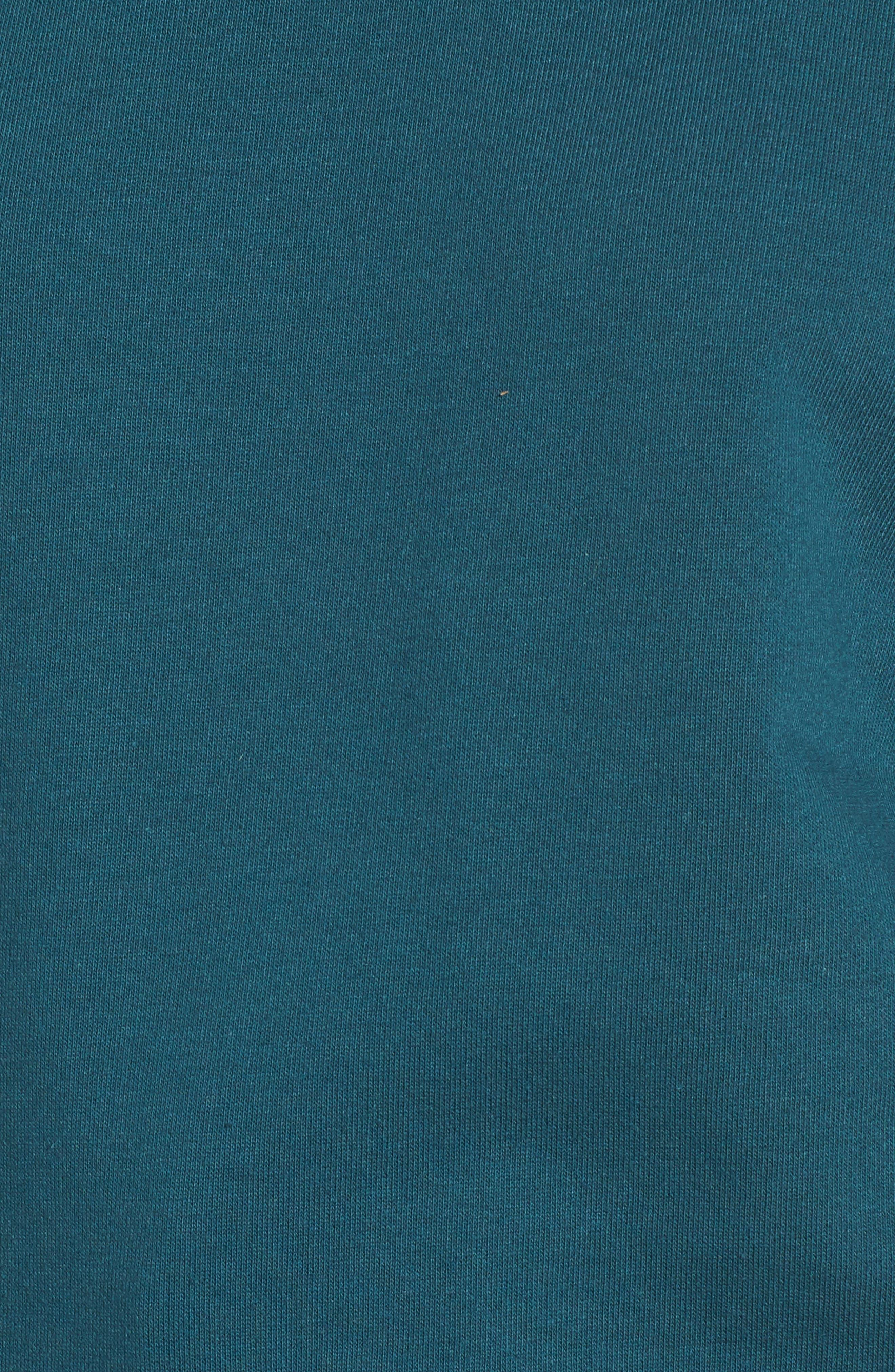 Cinched Sleeve Sweatshirt,                             Alternate thumbnail 5, color,                             Teal