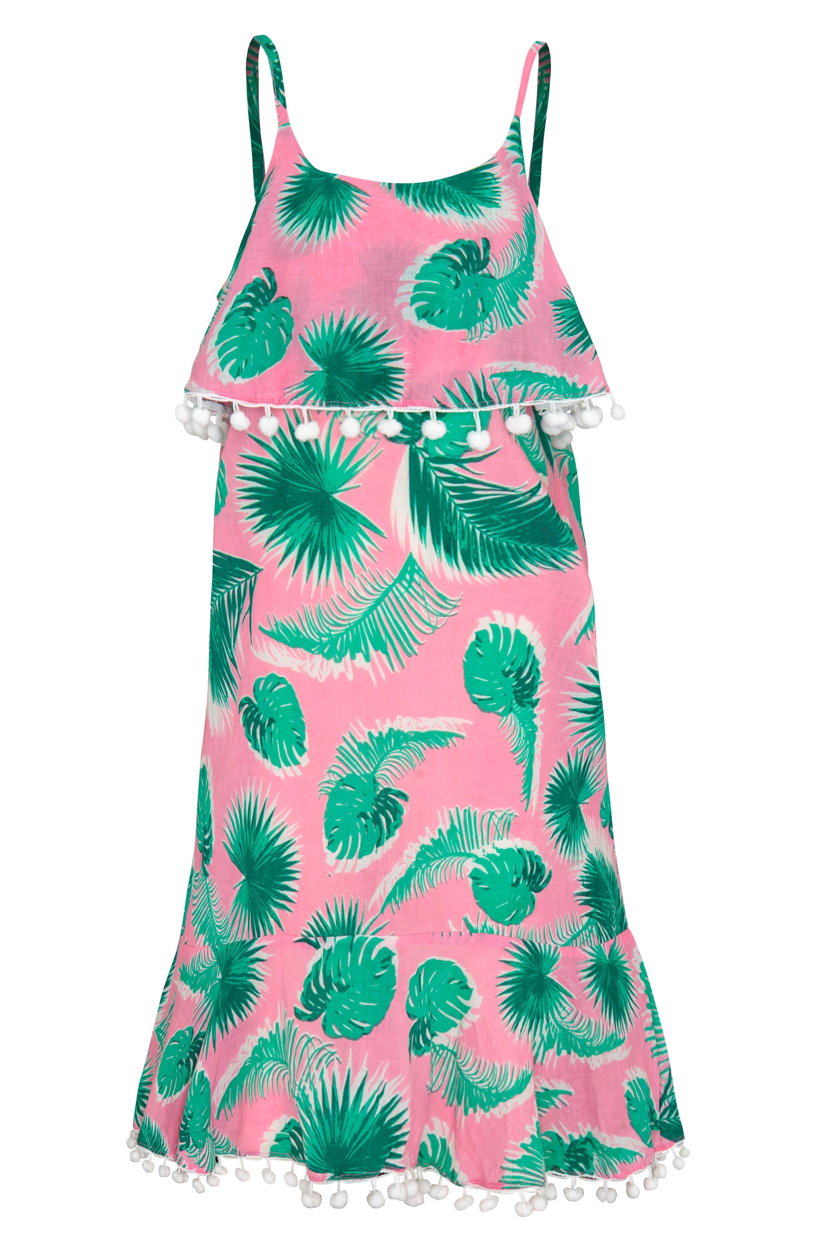 Print Cover-Up Dress,                             Main thumbnail 1, color,                             Botanica