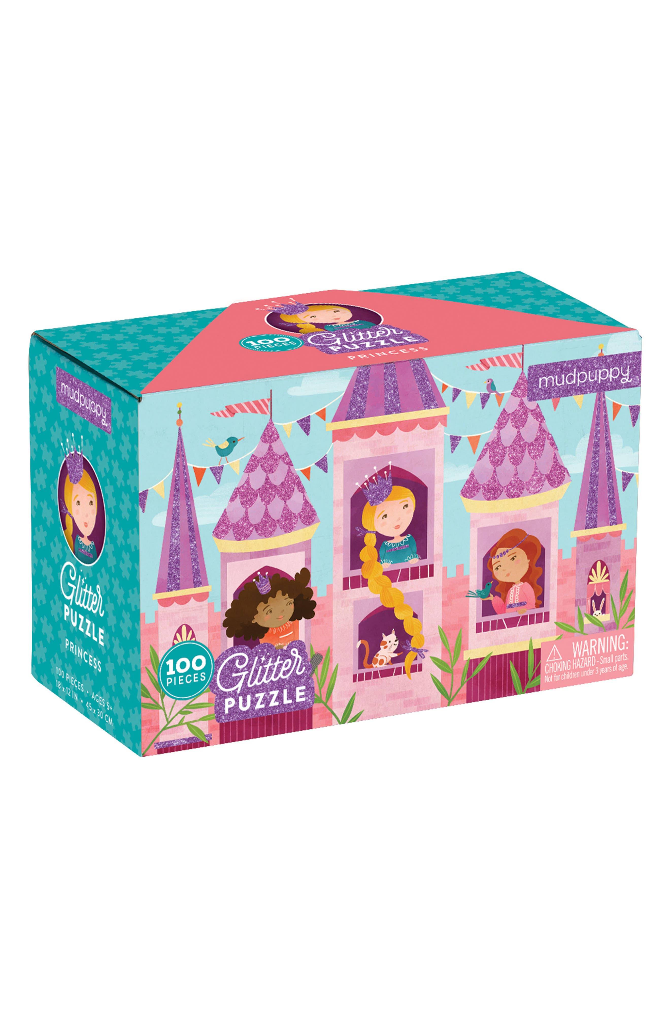 Chronicle Books Princess 100-Piece Glitter Puzzle