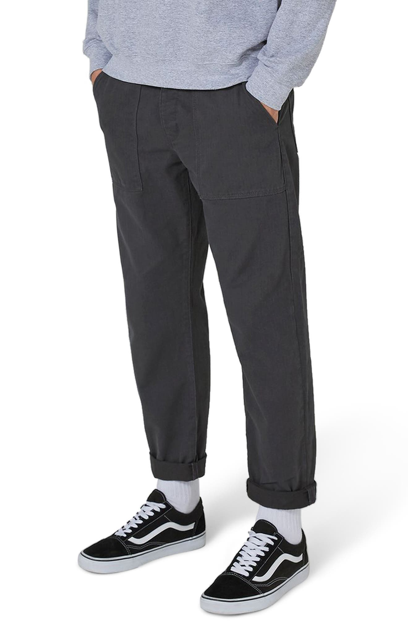 Main Image - Topman Original Fit Herringbone Trousers