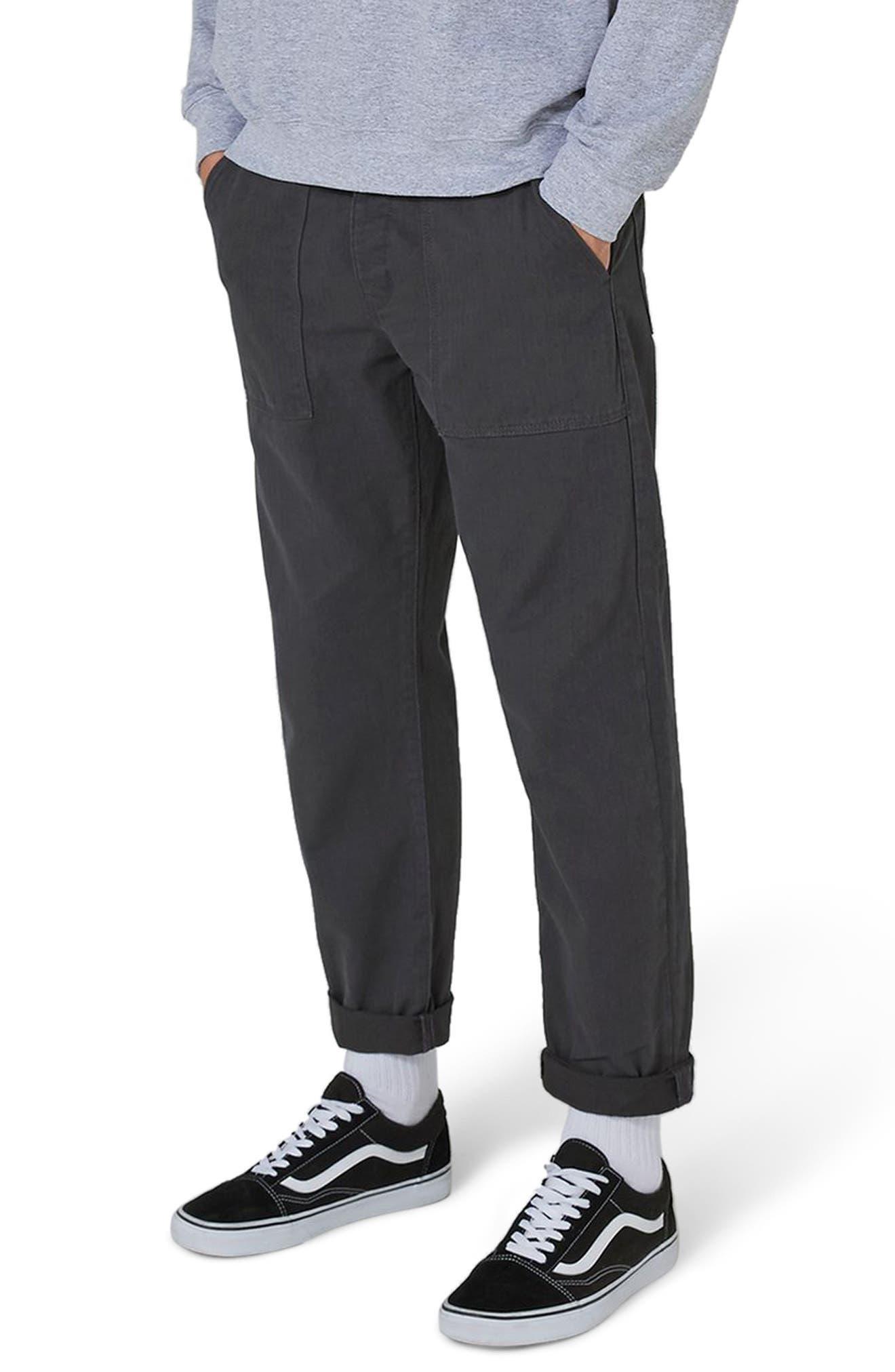 Original Fit Herringbone Trousers,                         Main,                         color, Mid Blue