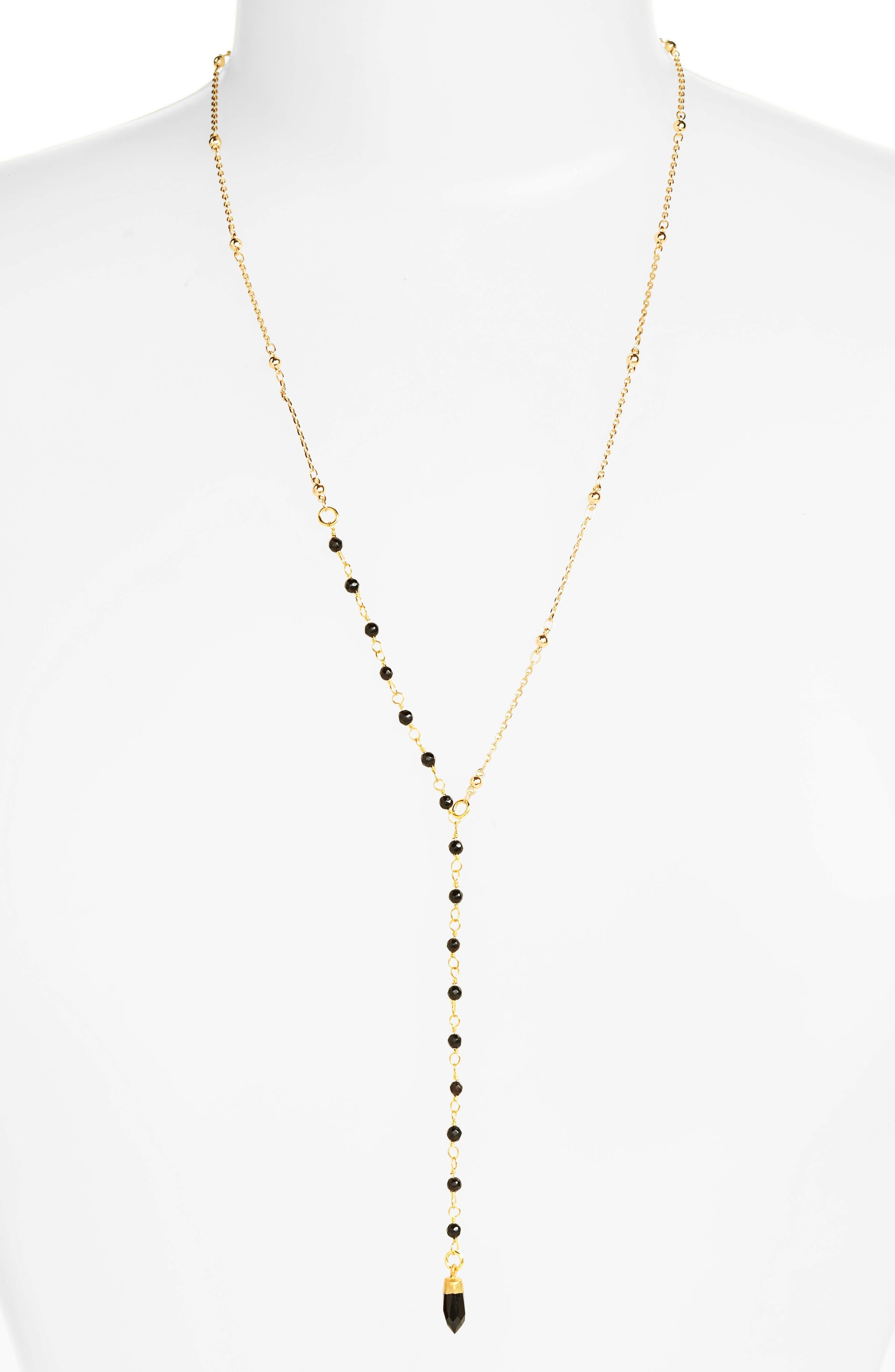 Karen London Beaded Y-Necklace