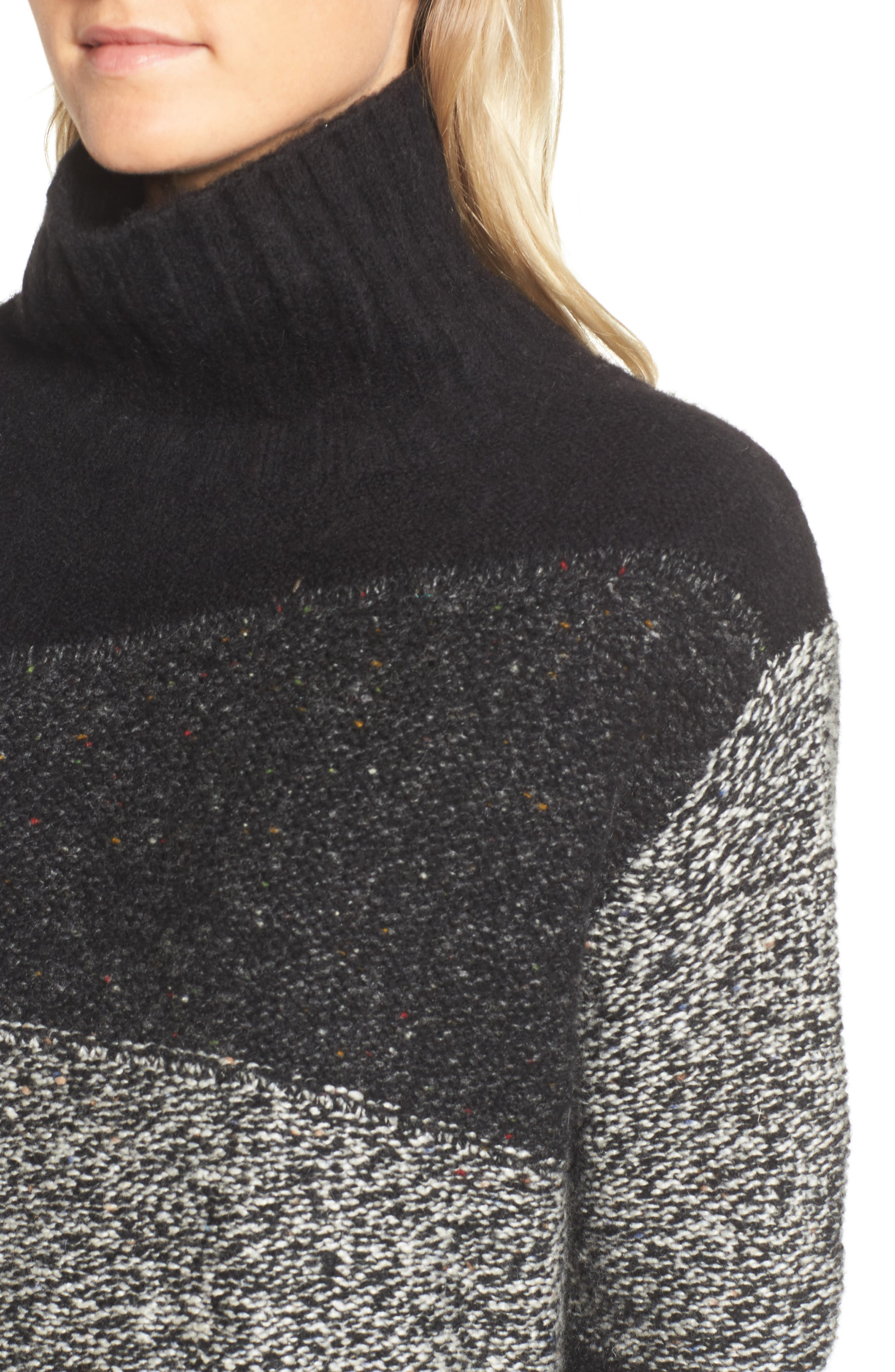 Alternate Image 4  - French Connection Anna Patchwork Turtleneck