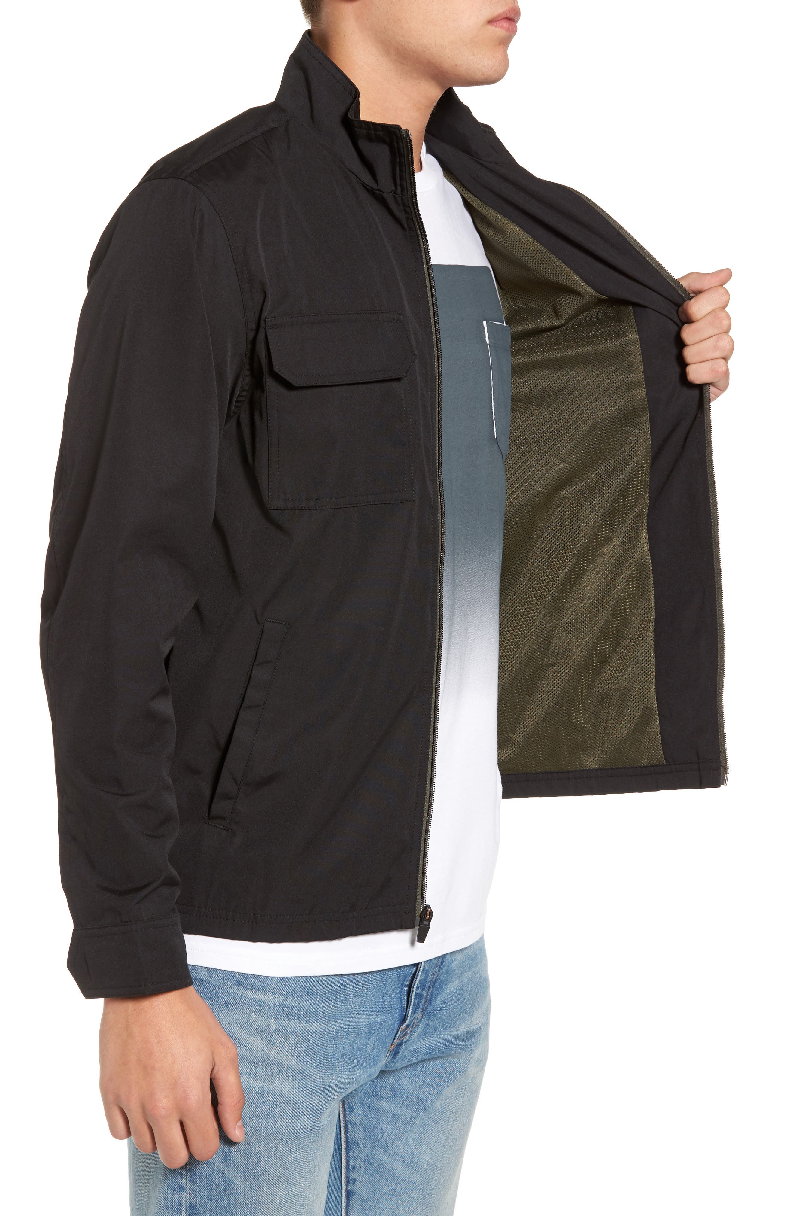 Staple Jacket,                             Alternate thumbnail 3, color,                             Solid Black