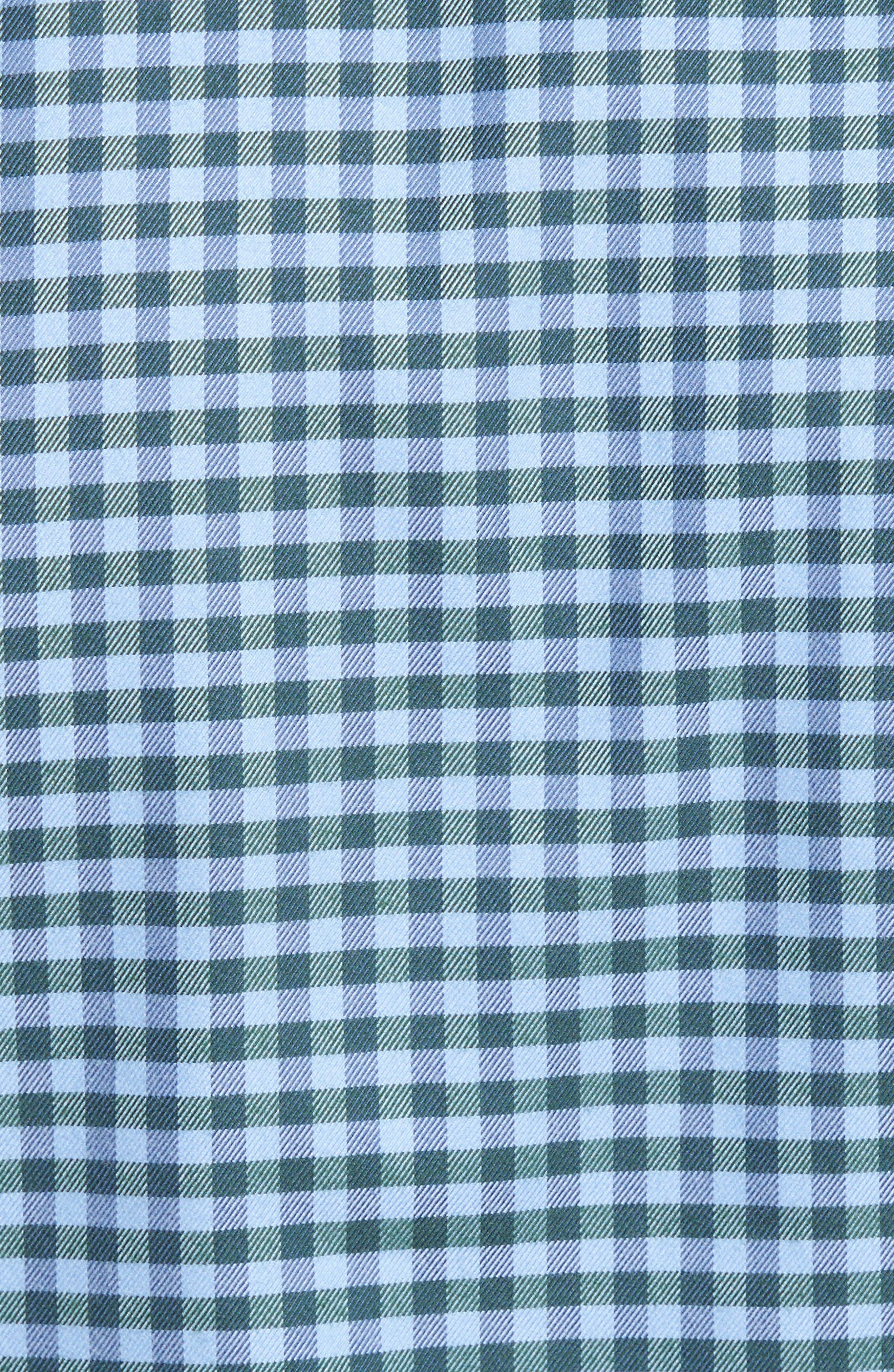 Alternate Image 5  - David Donahue Regular Fit Check Sport Shirt