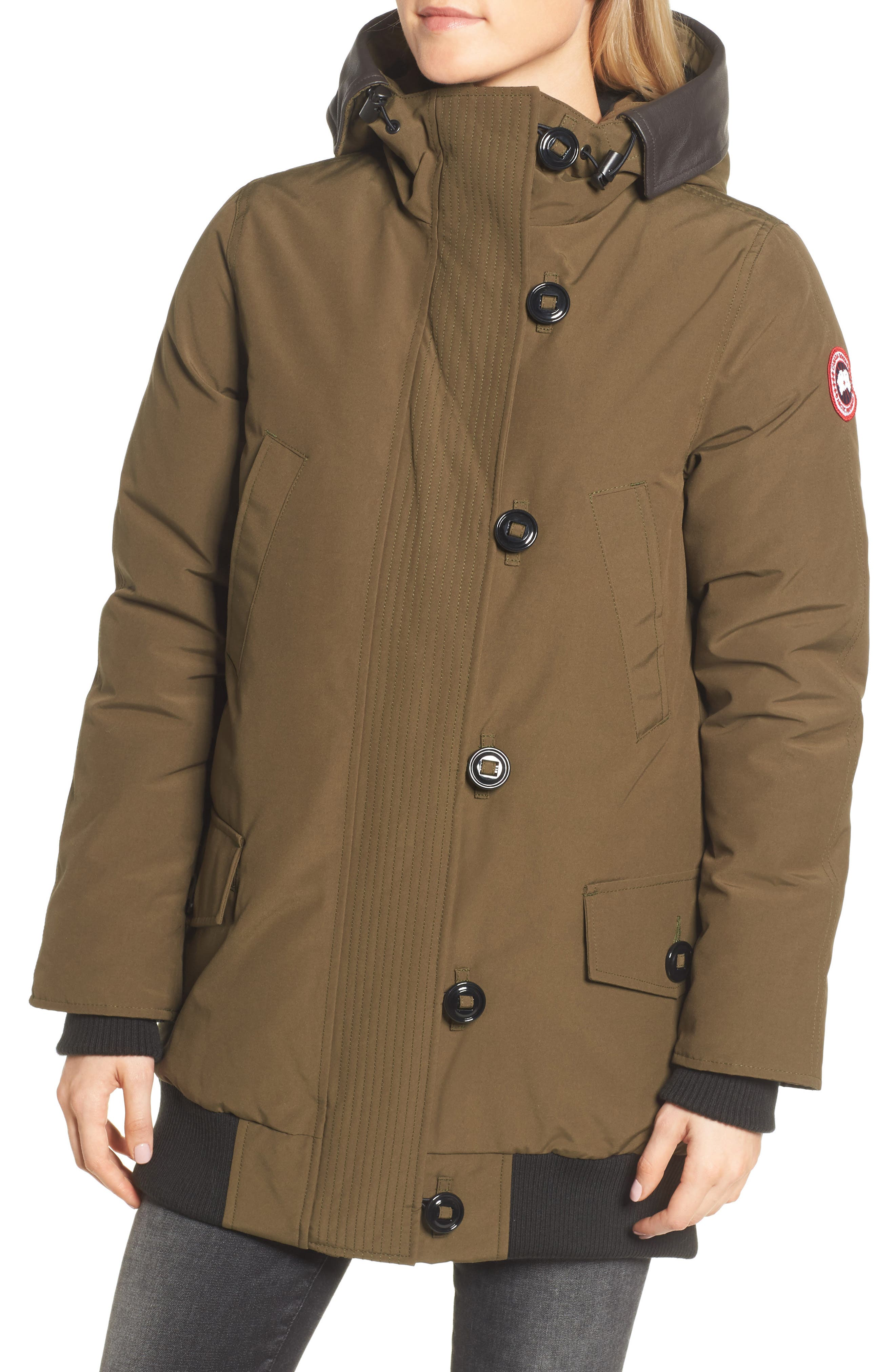 Alternate Image 4  - Canada Goose Finnegan 625-Fill Power Down Parka with Genuine Shearling Hood Lining