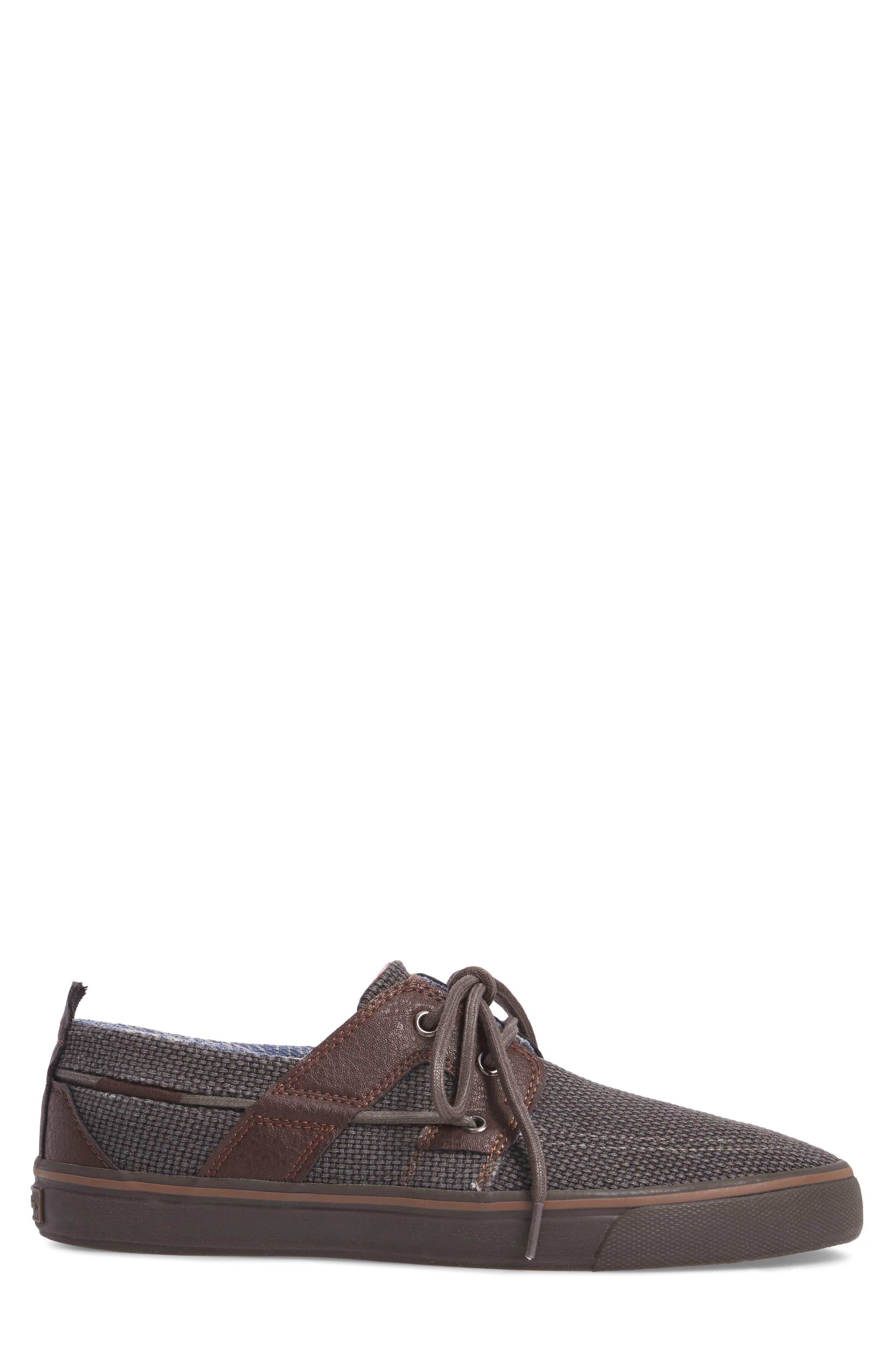 Stripe Breaker Sneaker,                             Alternate thumbnail 3, color,                             Dark Grey/ Dark Brown