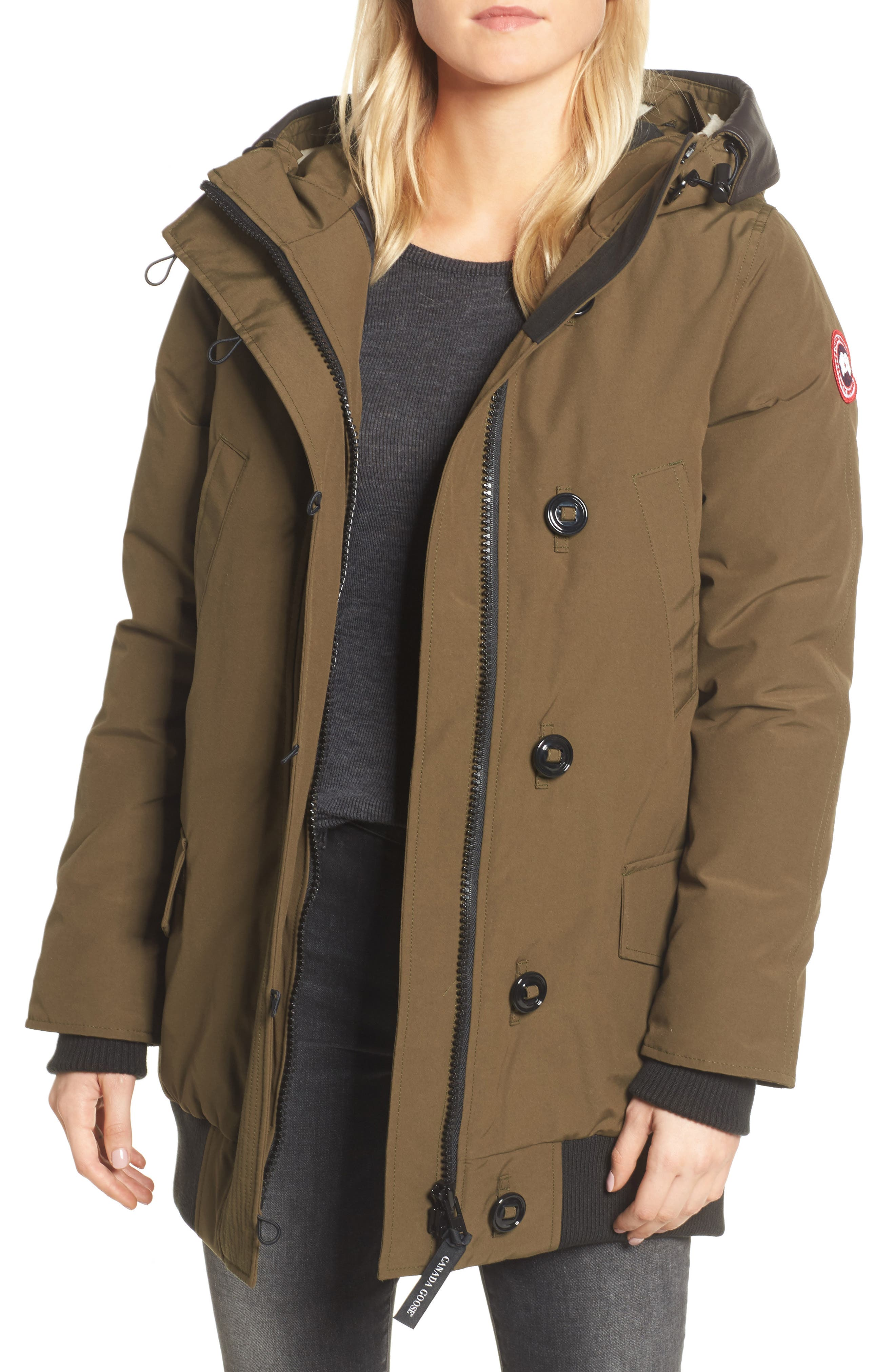 Alternate Image 1 Selected - Canada Goose Finnegan 625-Fill Power Down Parka with Genuine Shearling Hood Lining