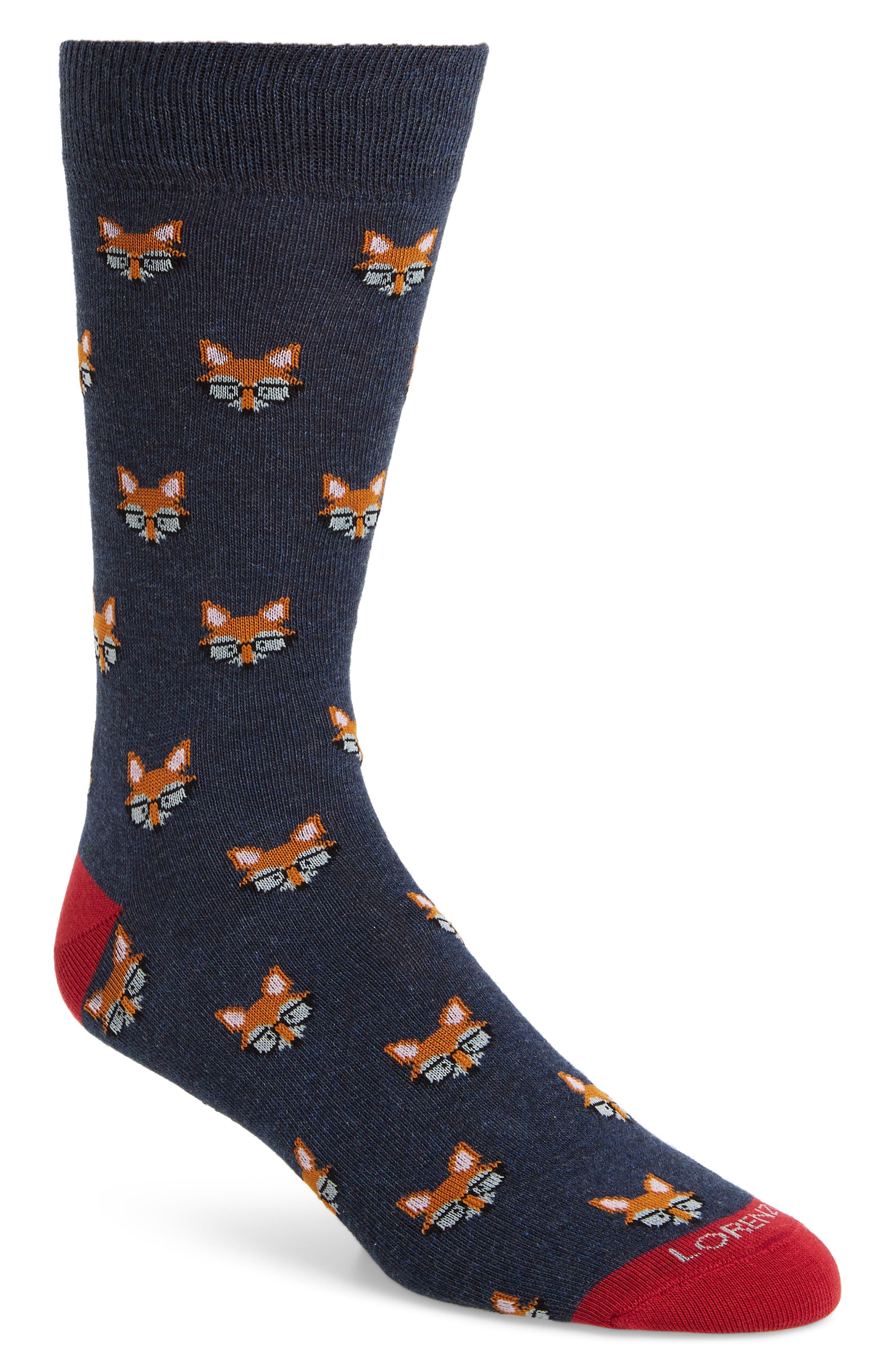 Lorenzo Uomo Nerdy Fox Socks