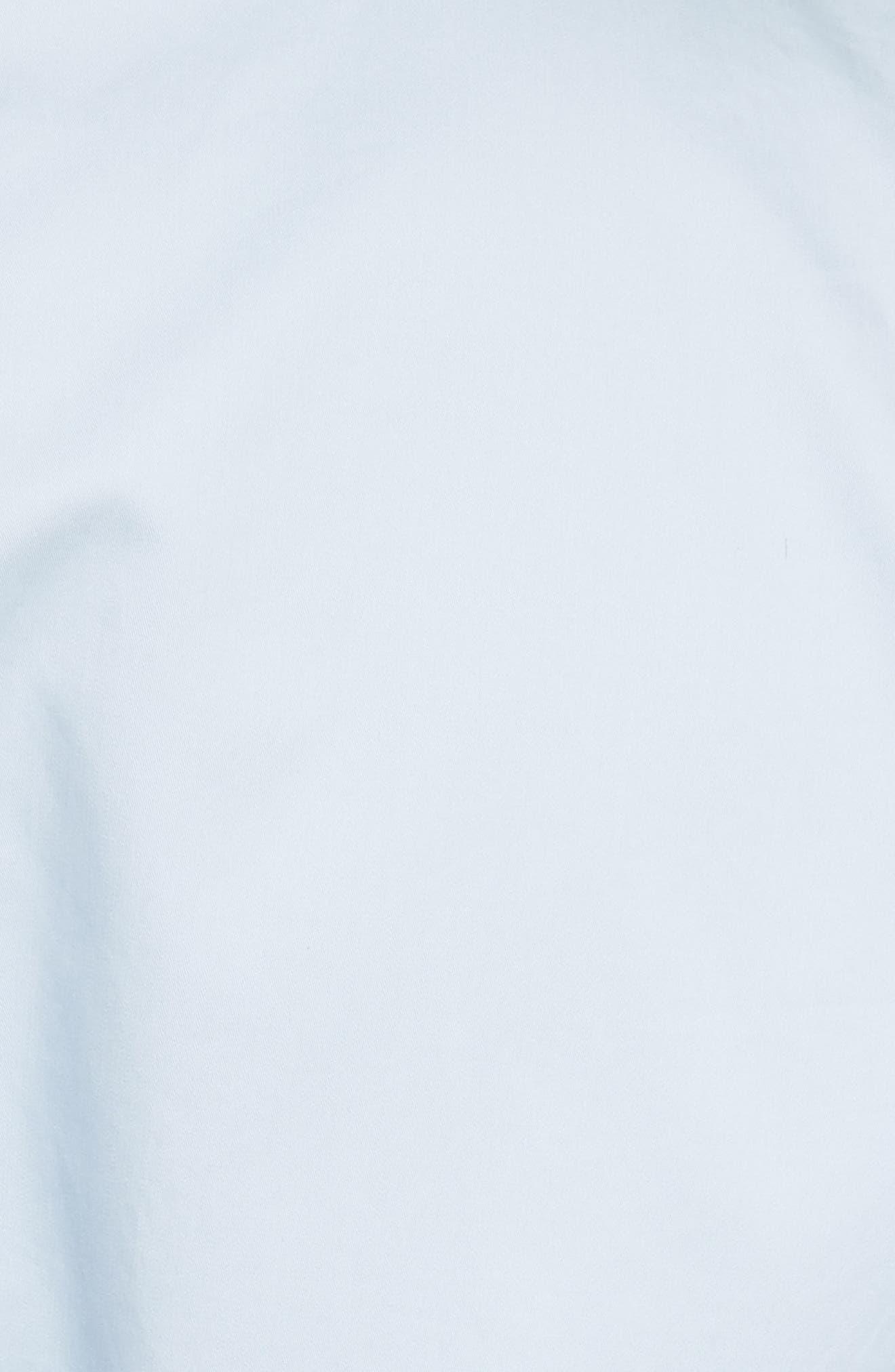 Cap Sleeve Corset Shirt,                             Alternate thumbnail 5, color,                             Morning Blue