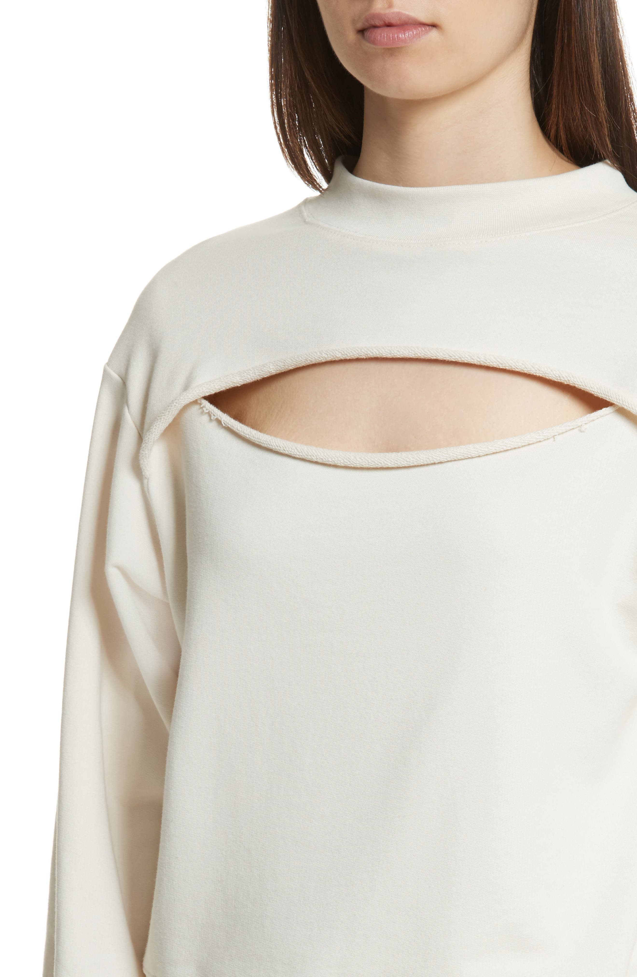Alternate Image 4  - T by Alexander Wang Slit Front French Terry Top