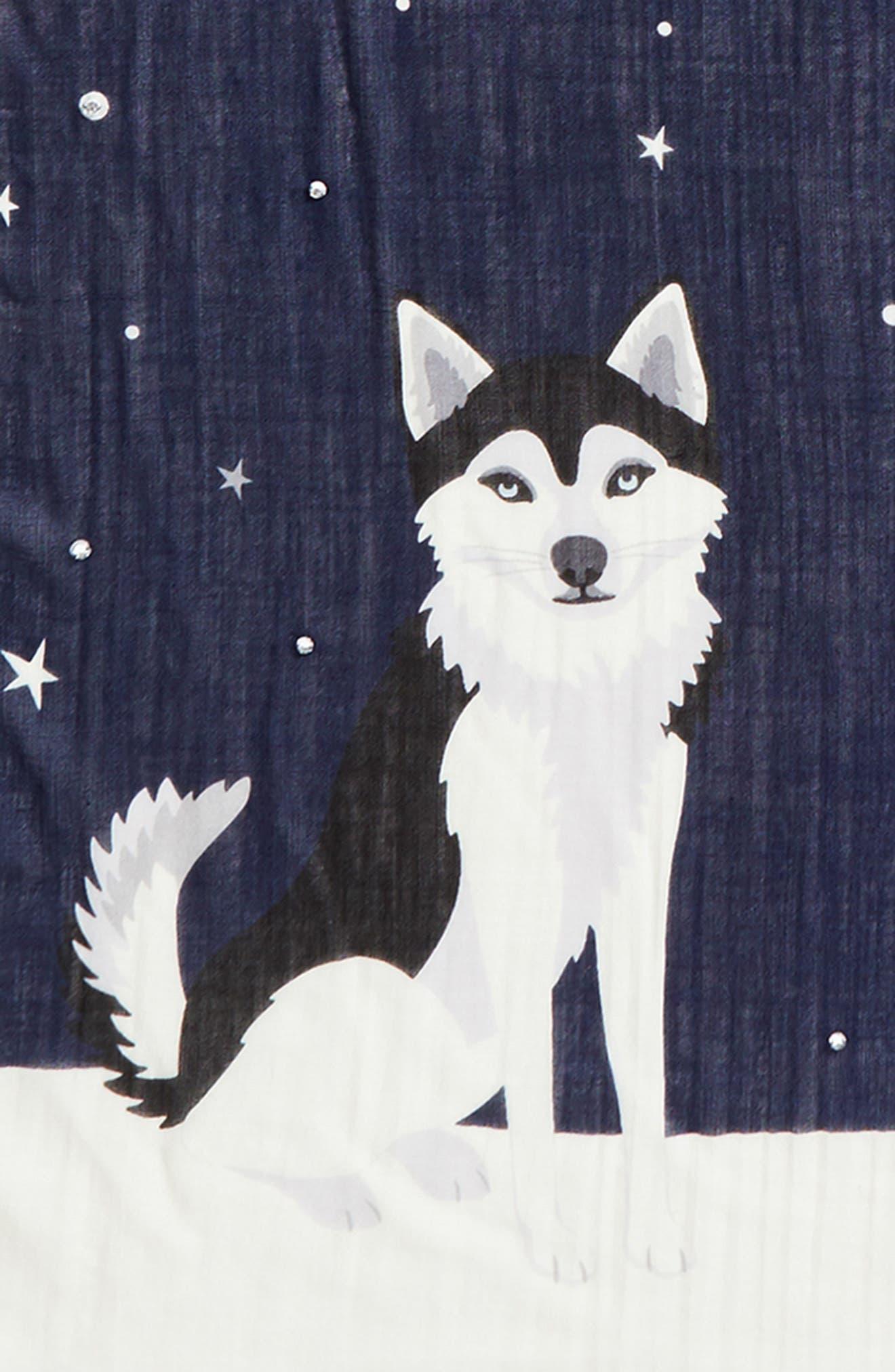 Alternate Image 3  - kate spade new york husky dog oblong wool scarf
