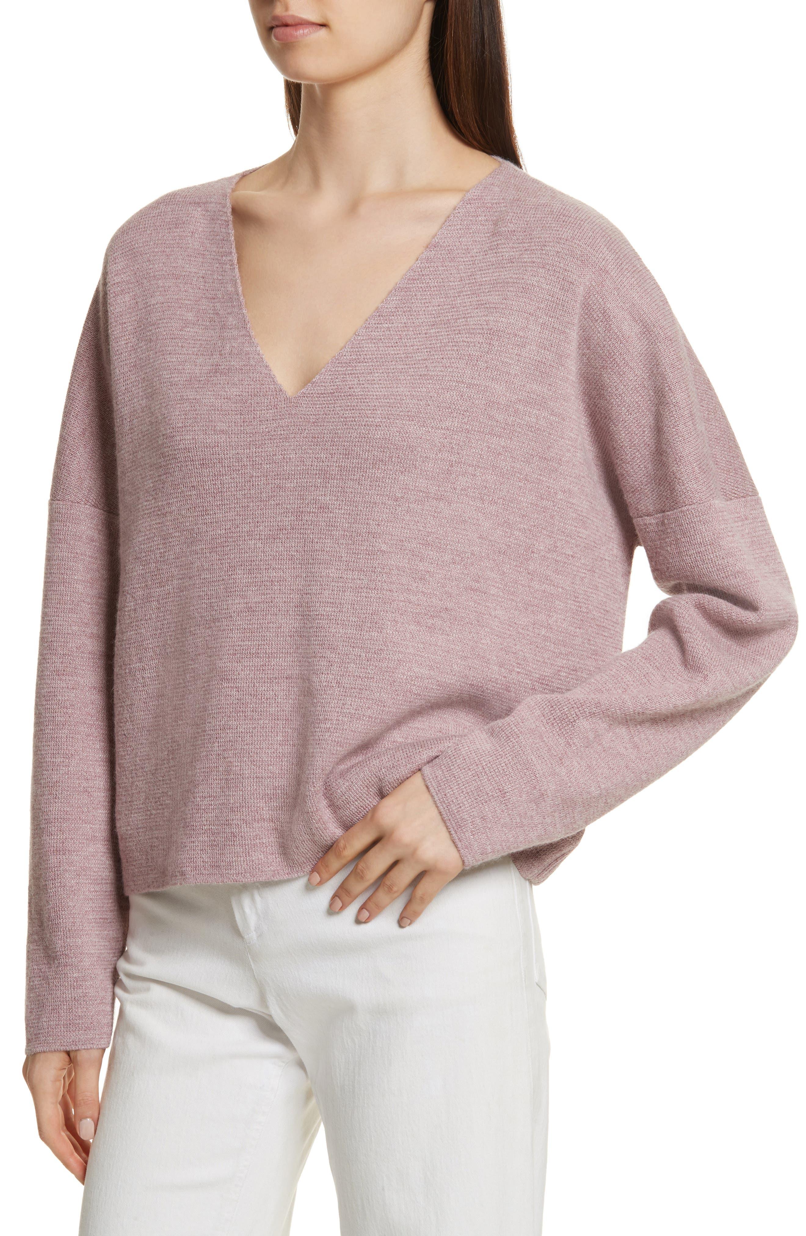 Fount Alpaca Hair Sweater,                             Alternate thumbnail 4, color,                             Lilac