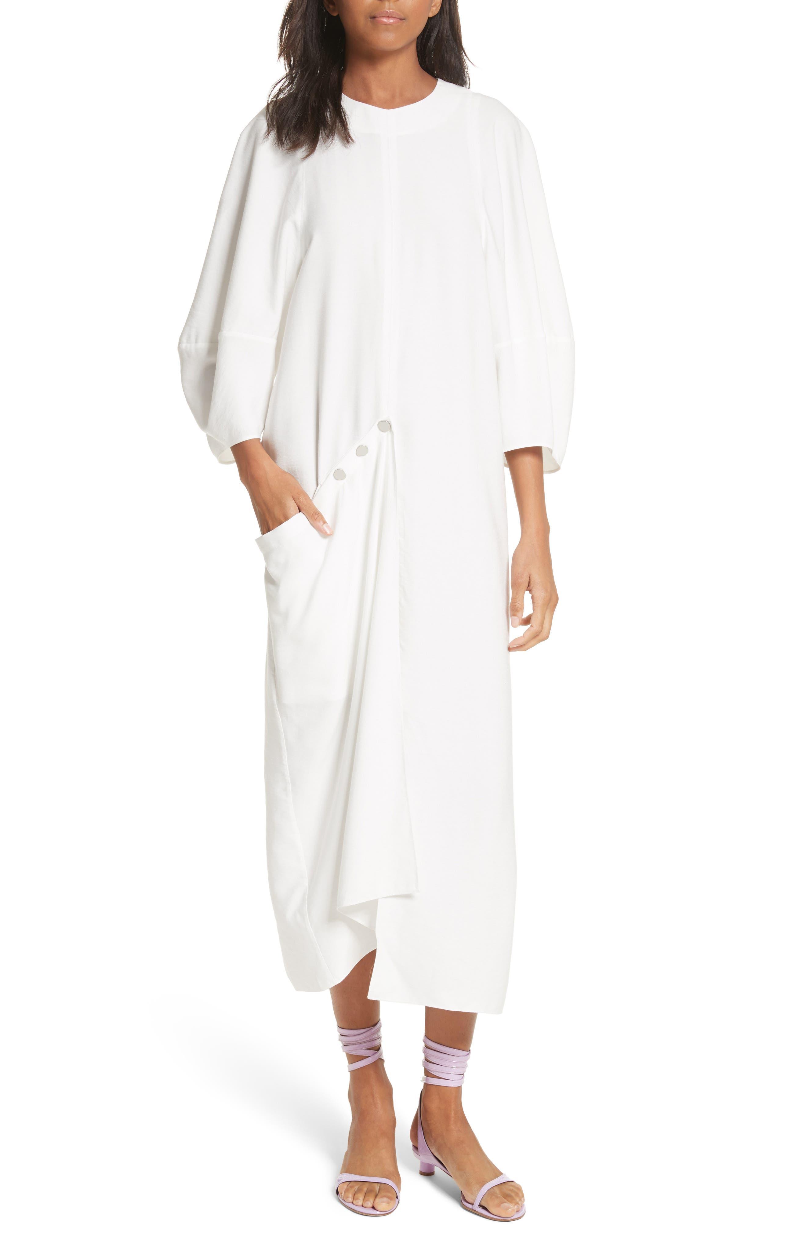 Tibi Asymmetrical Flap Dress